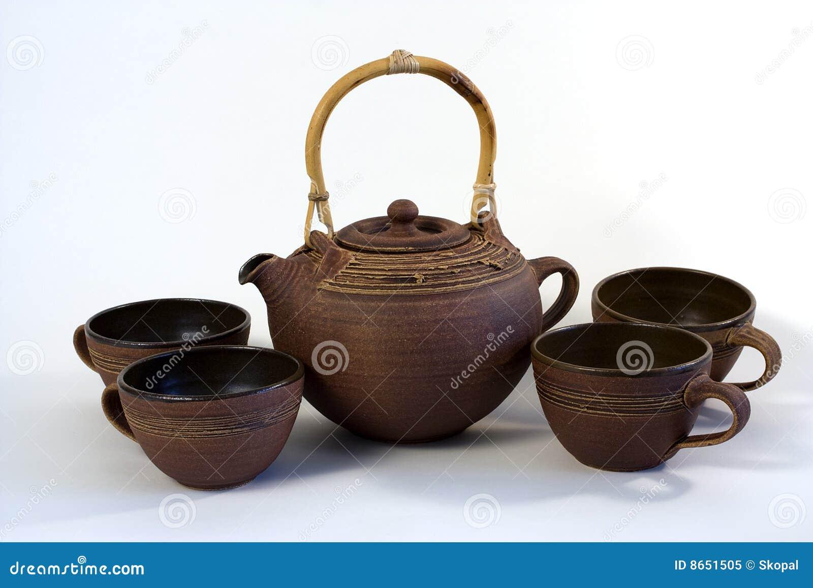 Service de thé en céramique