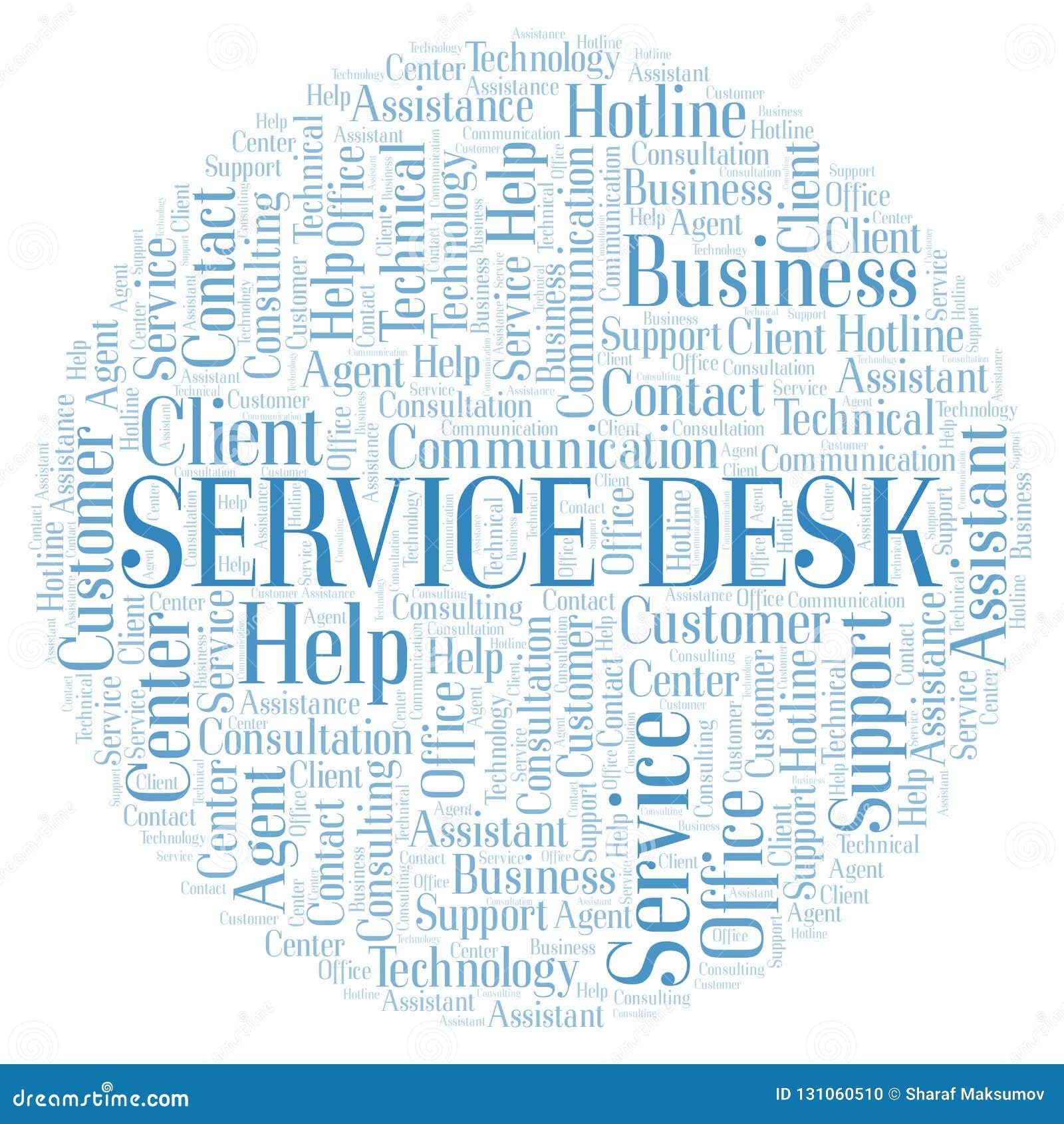 Service Desk Word Cloud  Stock Illustration  Illustration