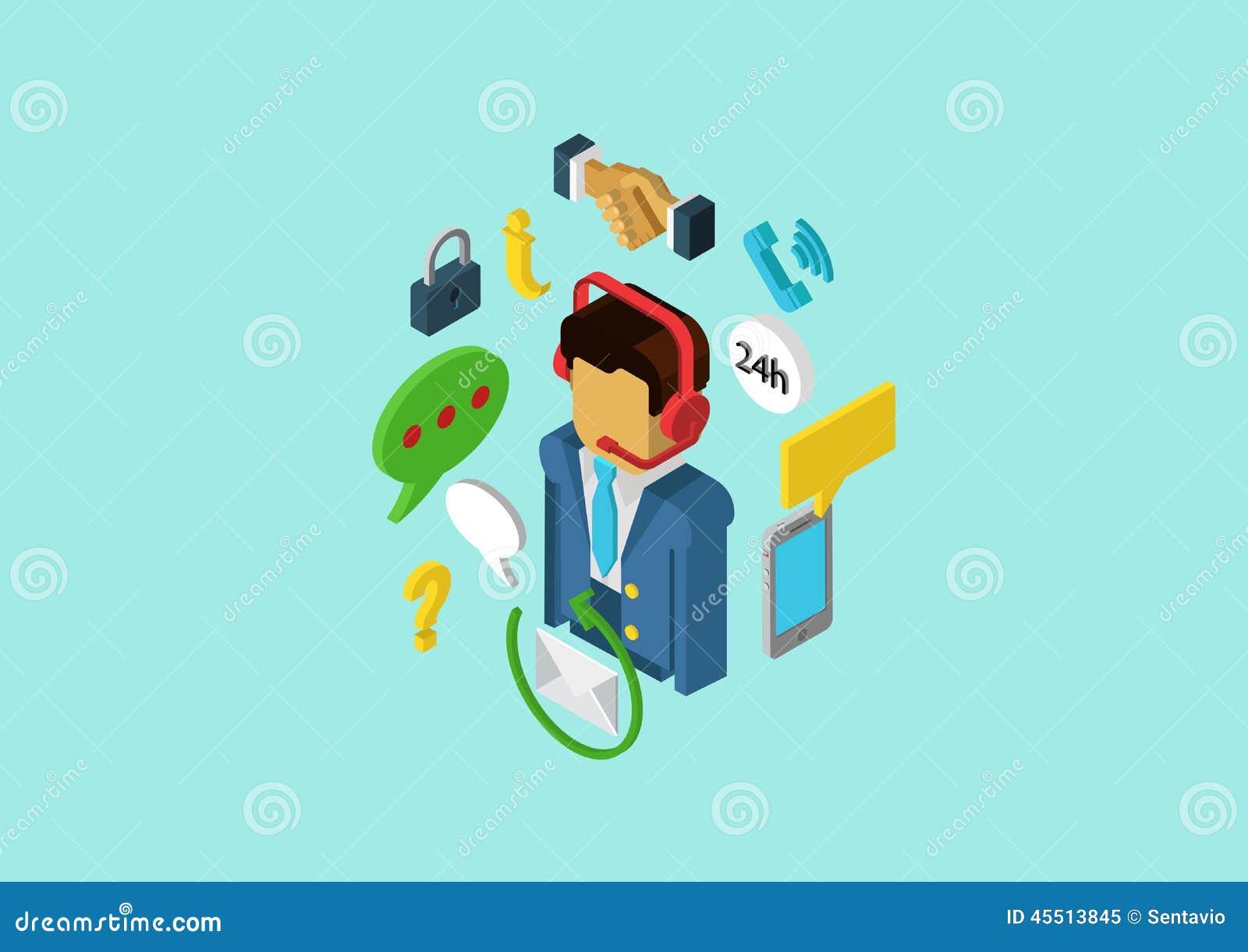 Service för klient för service för plan isometrisk rengöringsduk för begrepp 3d infographic