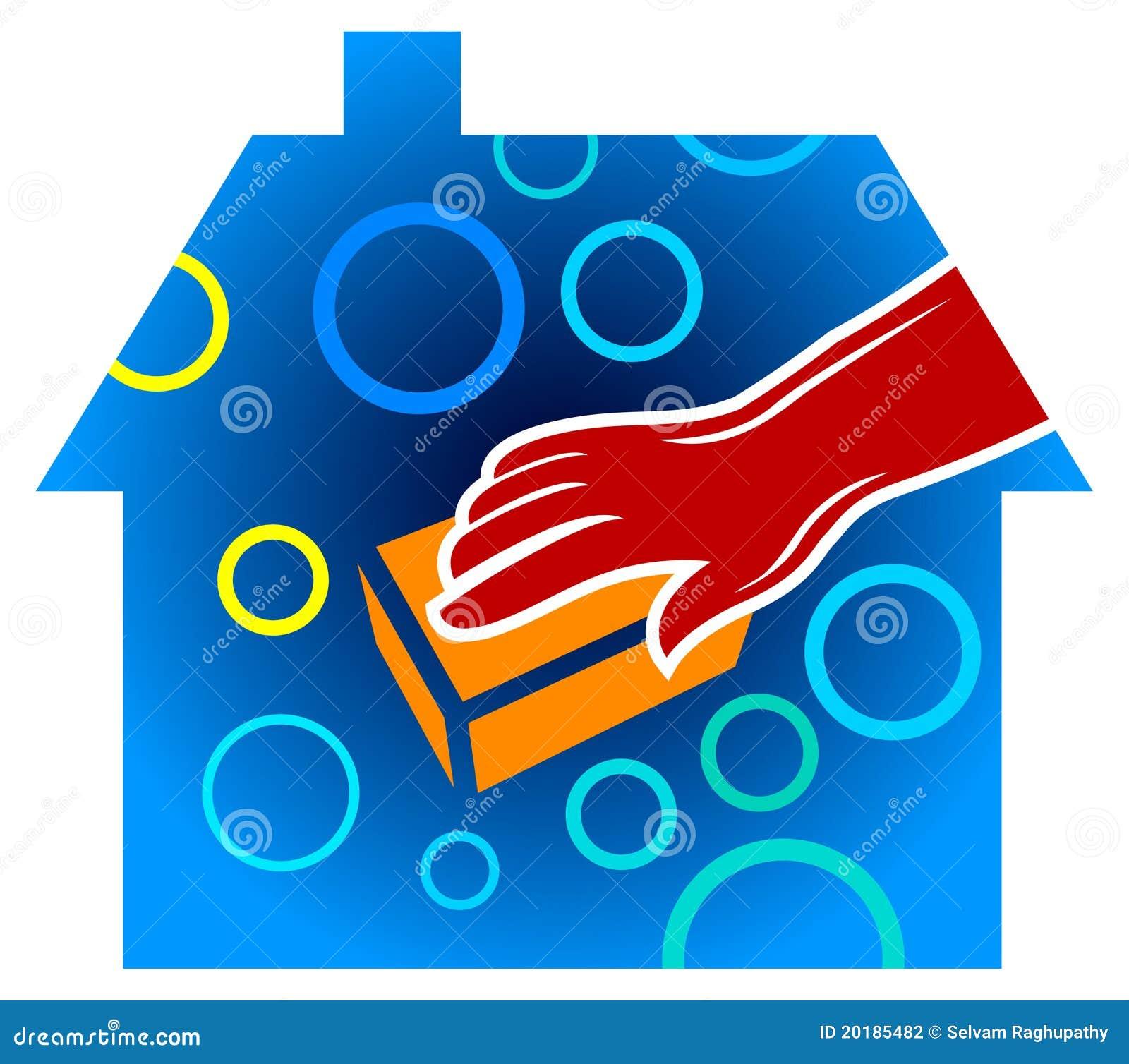 Service la maison de nettoyage photographie stock for Service a la maison