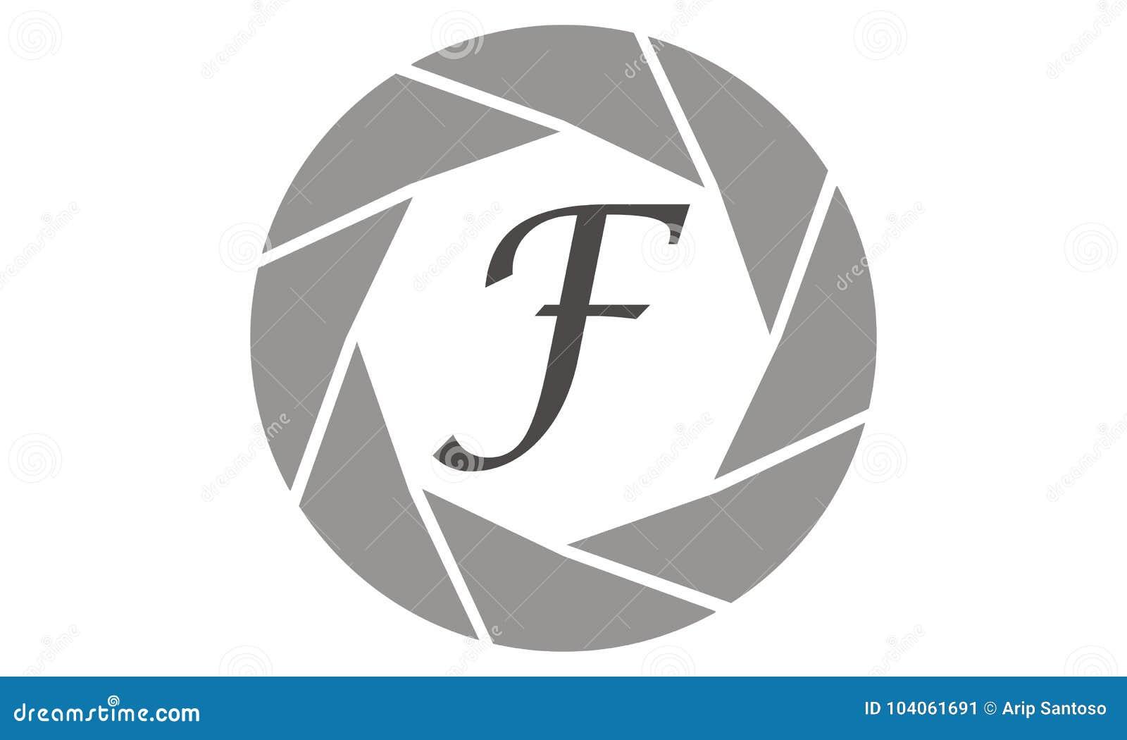 af869c44c1 Photography Service Letter F Stock Vector - Illustration of device ...