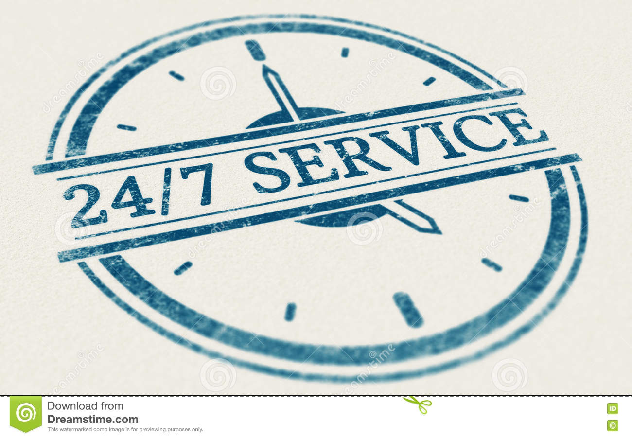 24 hour open stamp stock vector image 48834966 service always open 24 hours and 7 days a week royalty stock photo