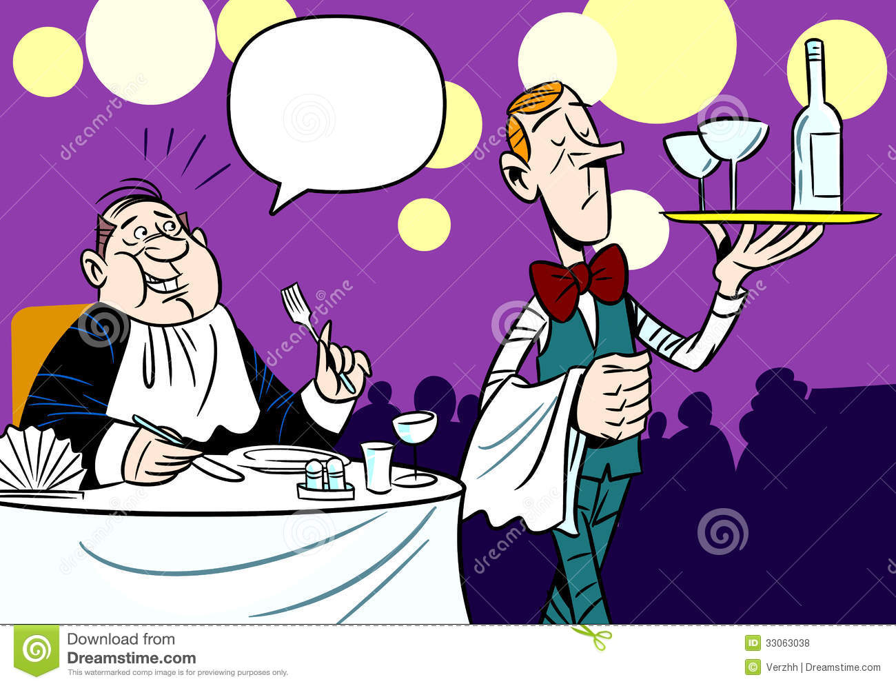 Service In A Restaurant Royalty Free Stock Photos Image