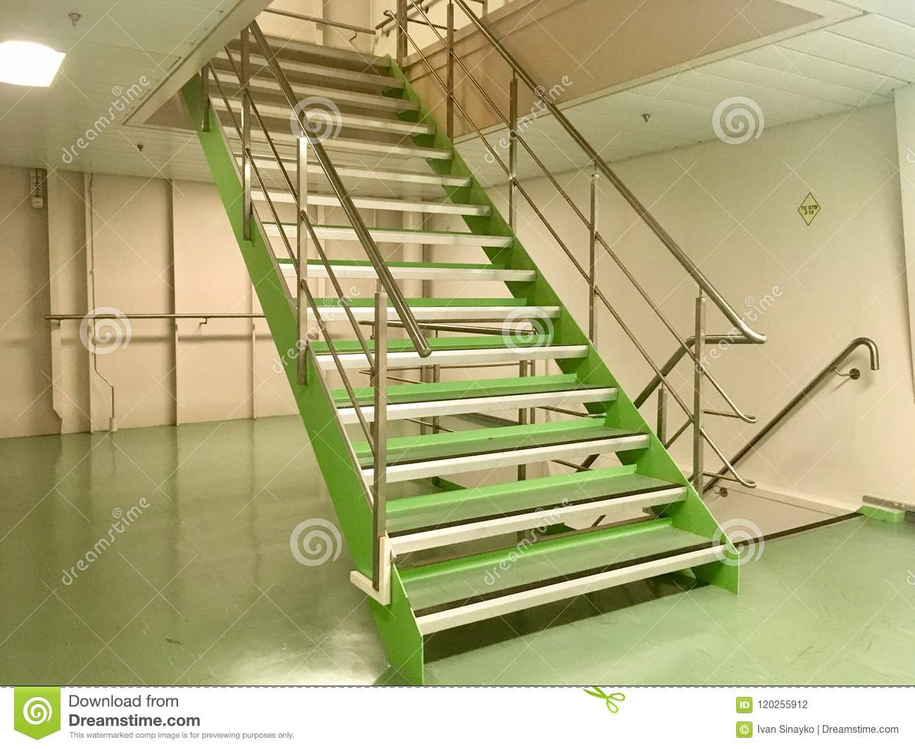 Service Crew Stairs On Ship