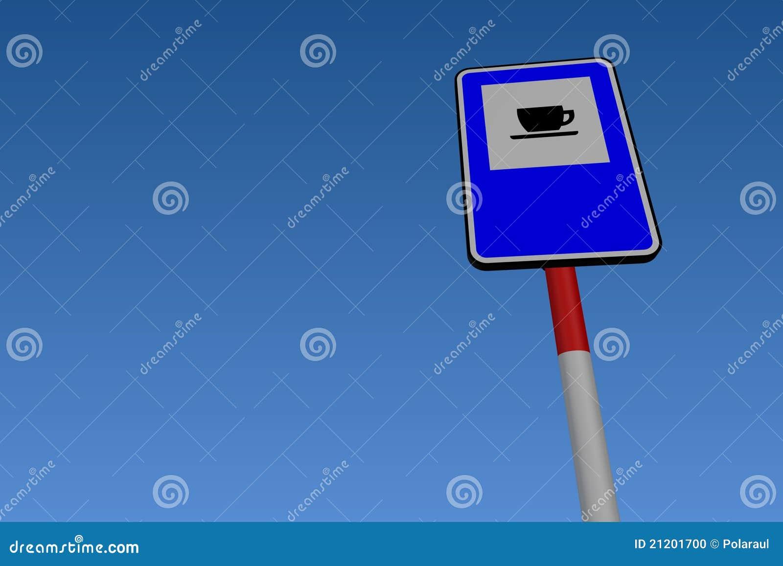 Service-Straßen-Verkehrszeichen