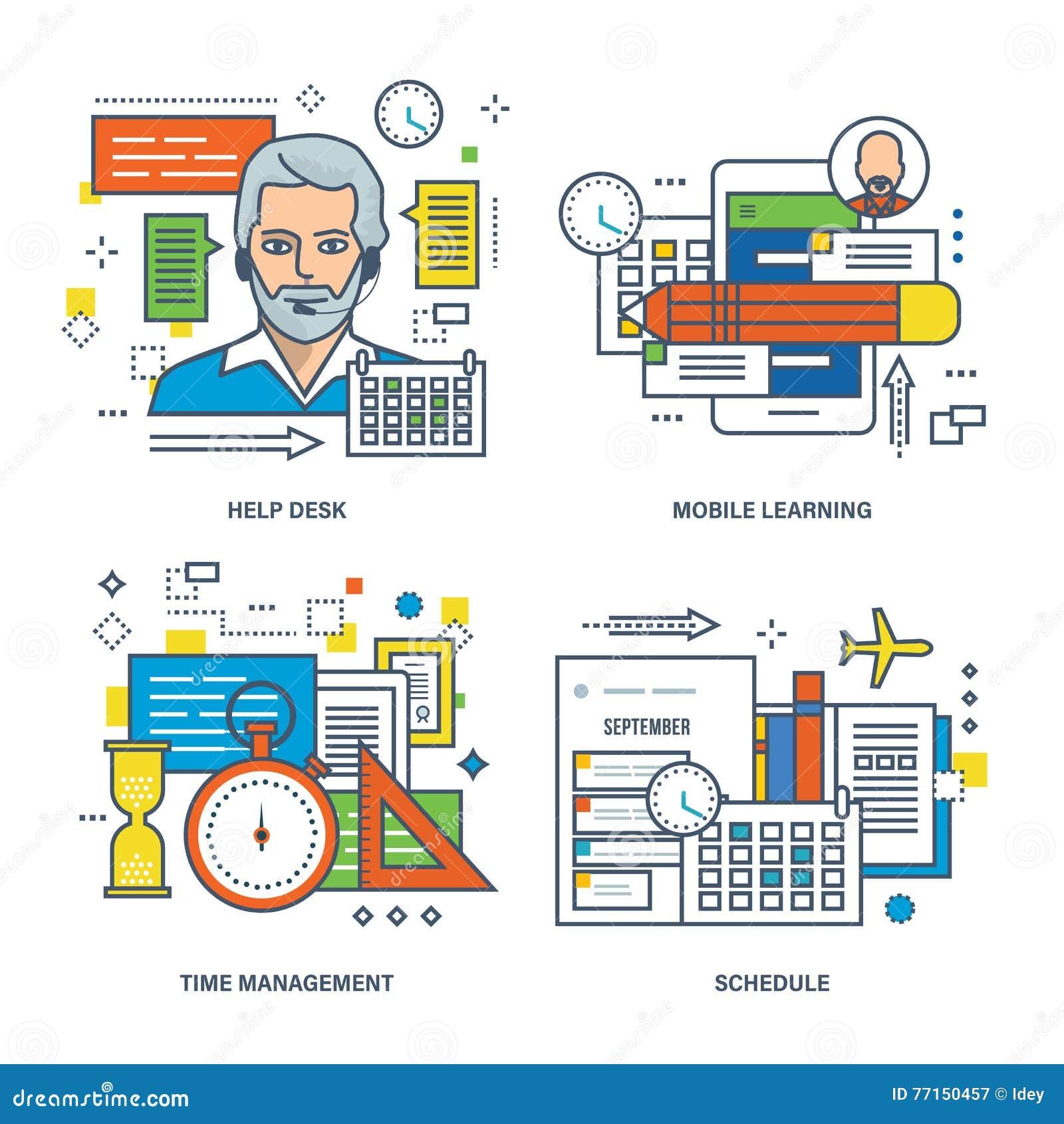 Service SVP, étude mobile, gestion du temps, horaire des classes