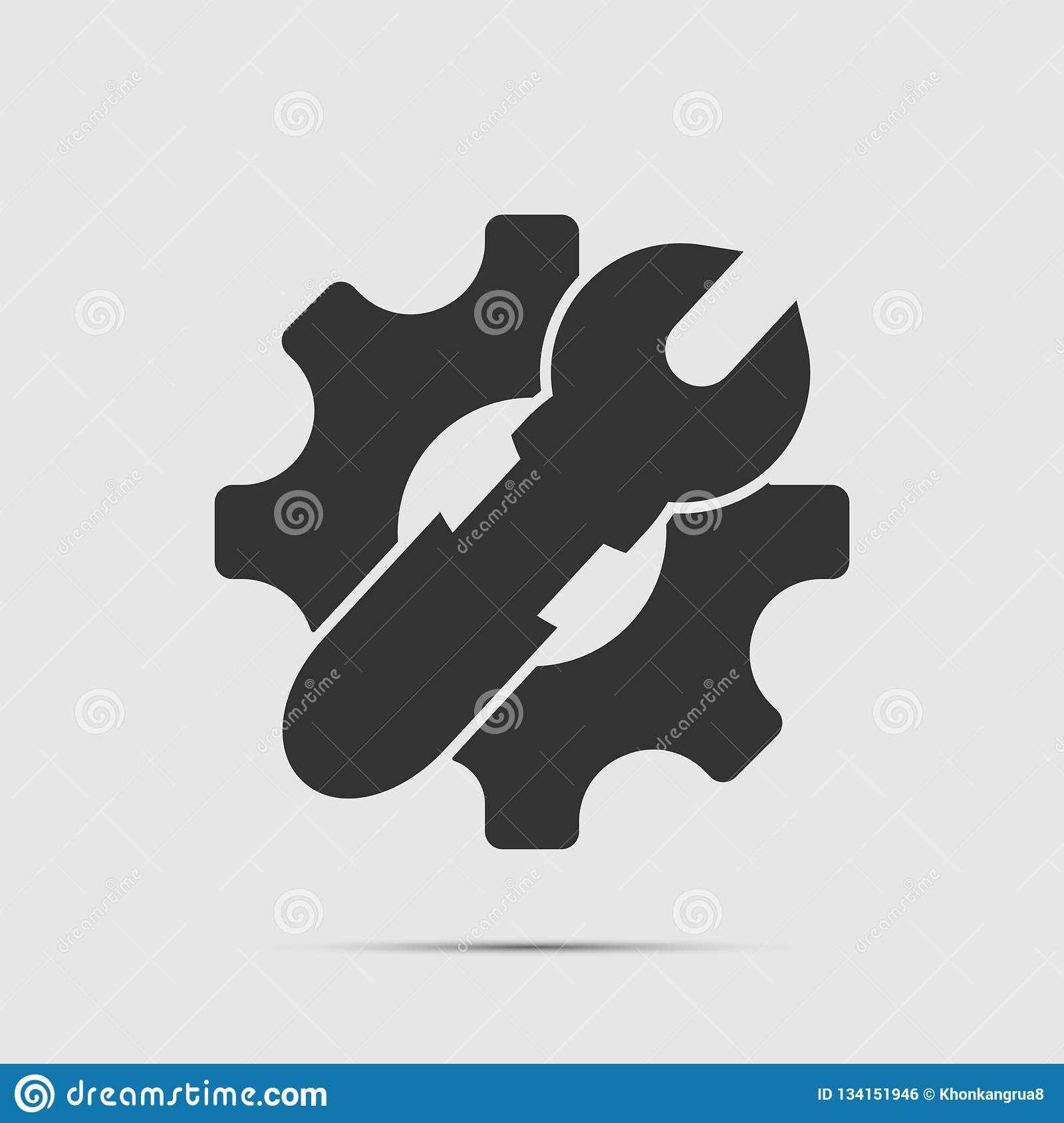 Service Tool icon on white background,technology, industry, flat, equipment,