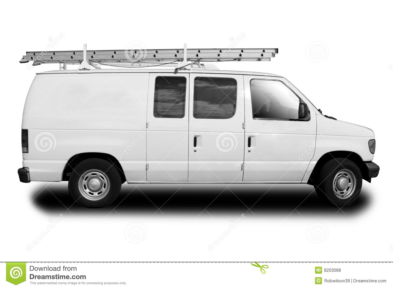 Service Van Stock Photo Image Of Logistics Courier