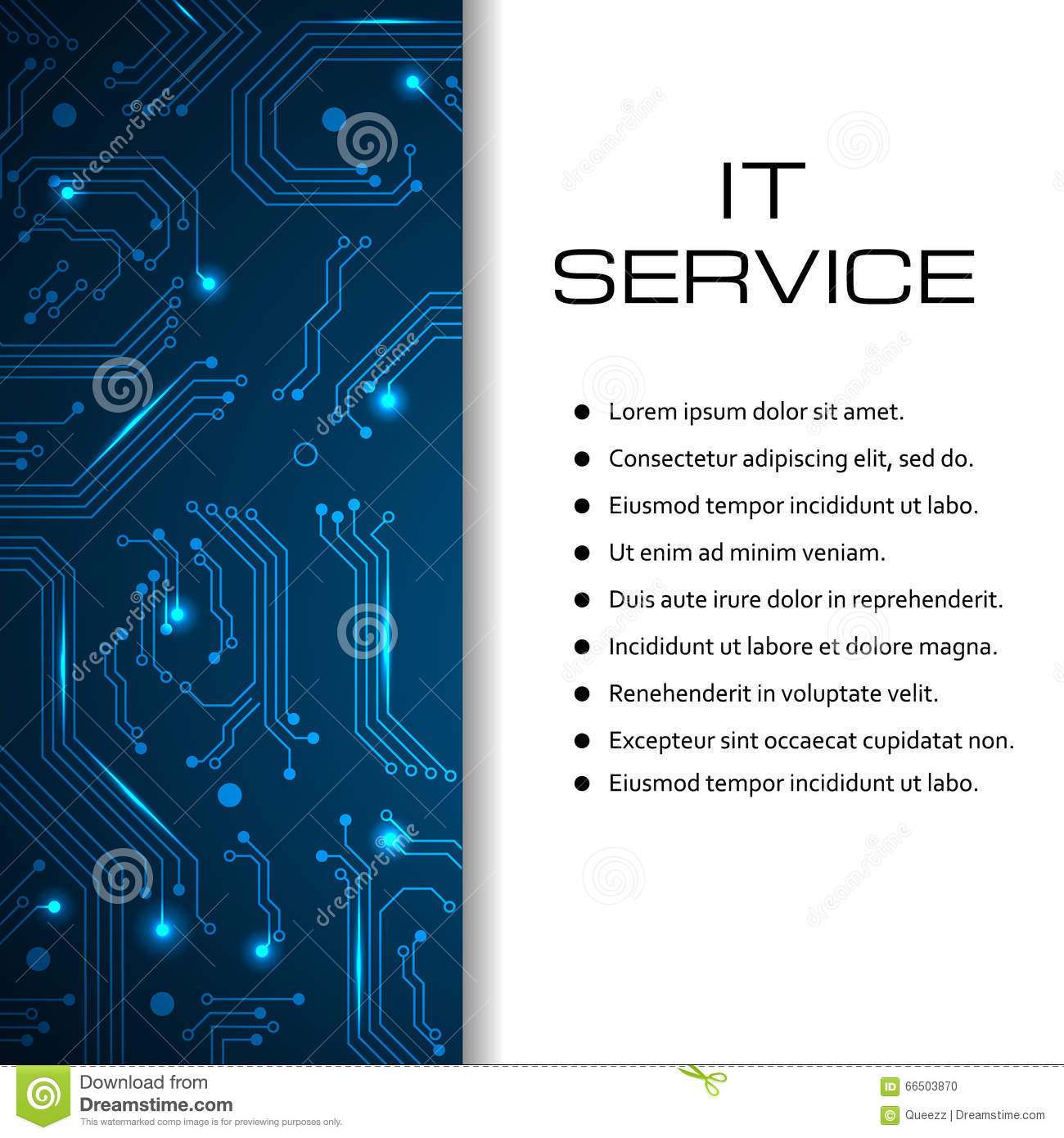 It service vector banner can be used for web design for It services brochure template