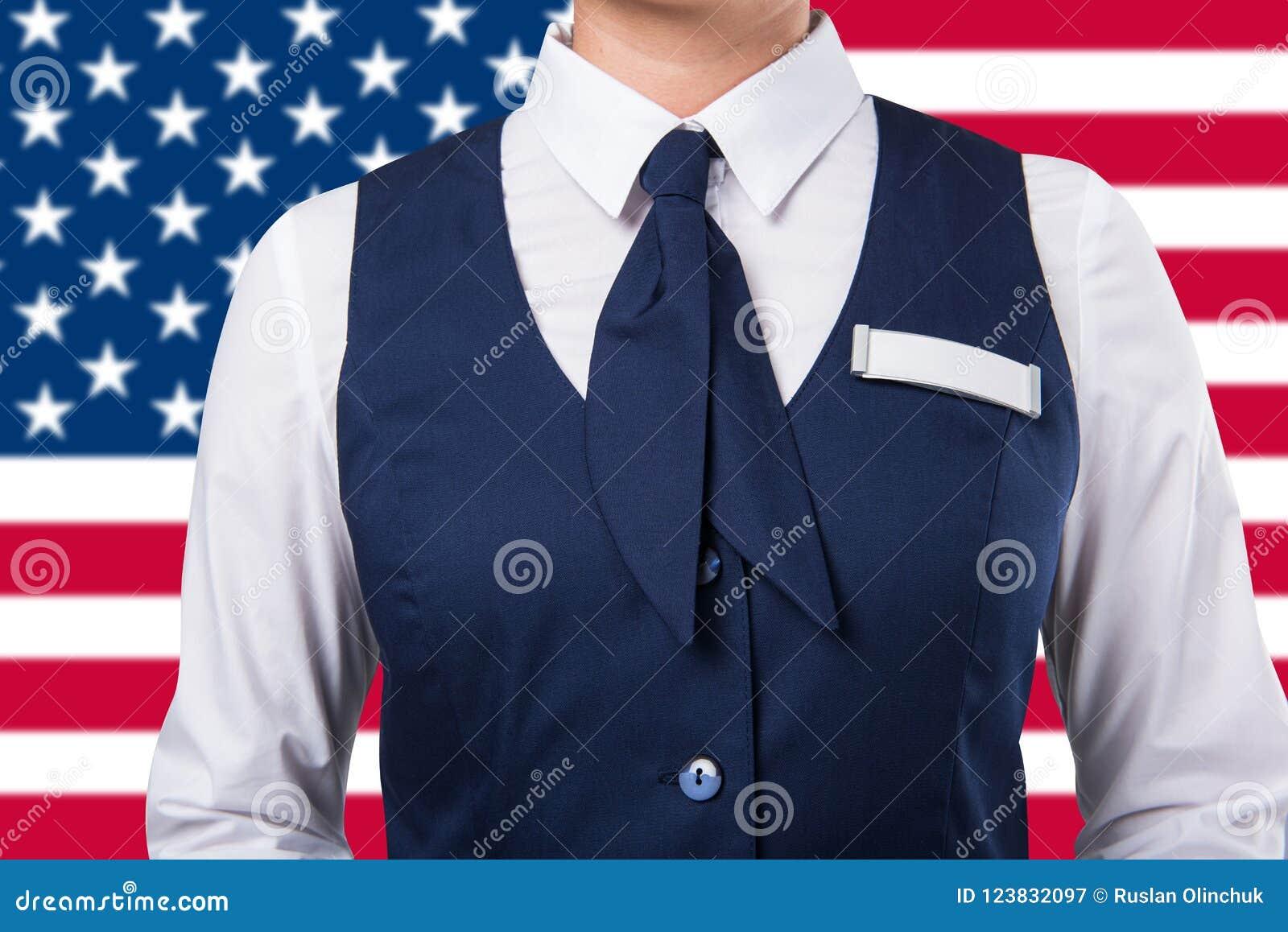 Service Woman Uniform Stock Image Image Of Hostess 123832097