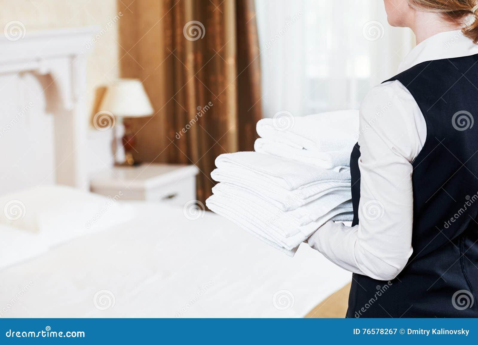 Services hôteliers domestique de ménage avec de la toile