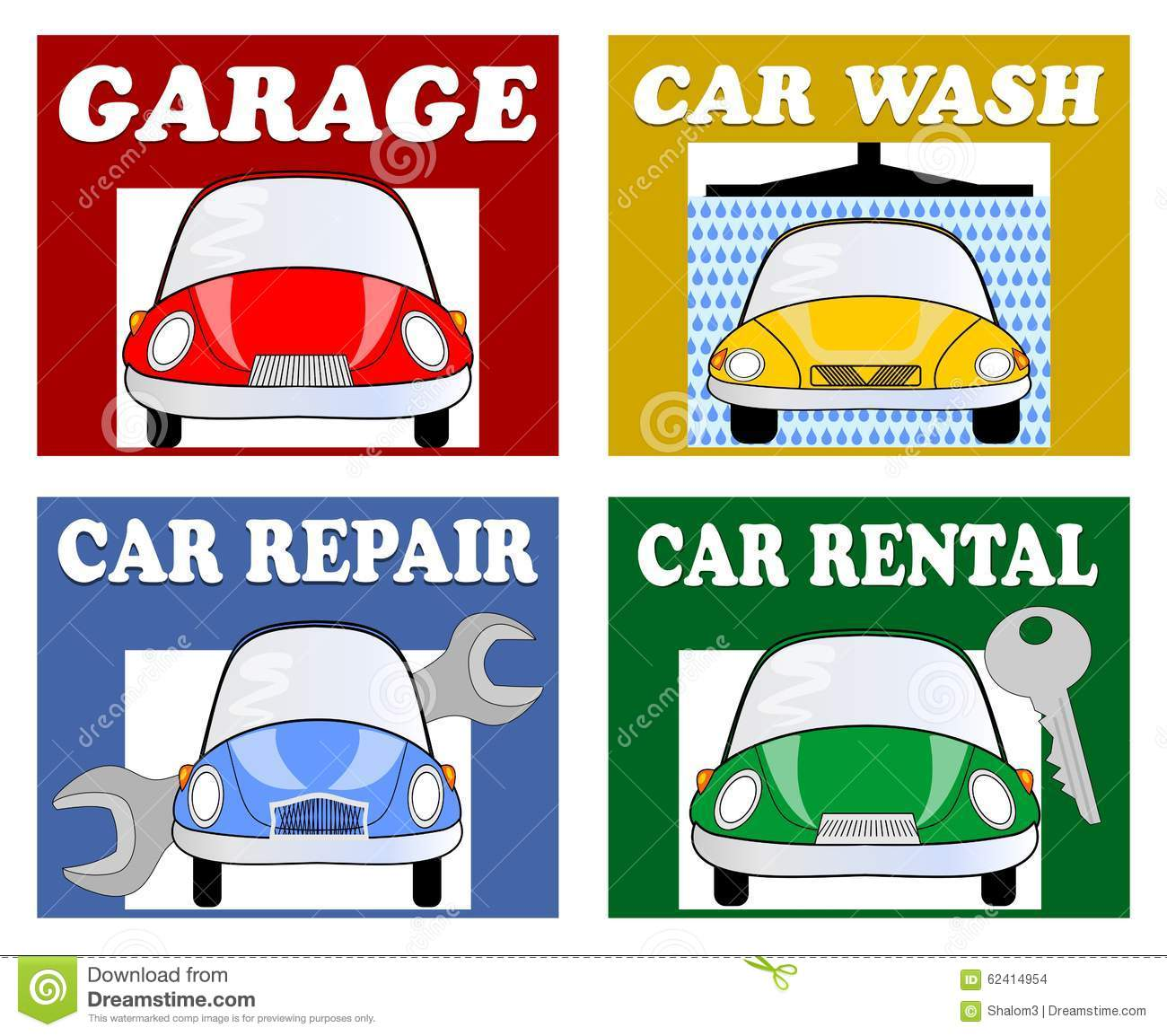 Services for motorists and drivers garage car wash car for Garage automobile reparation
