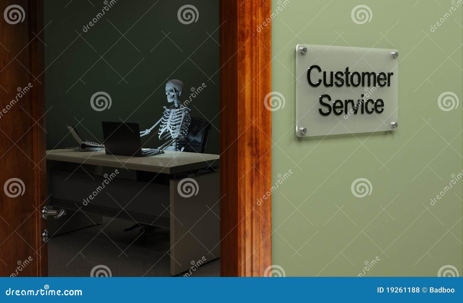 Servicio de atención al cliente muerto