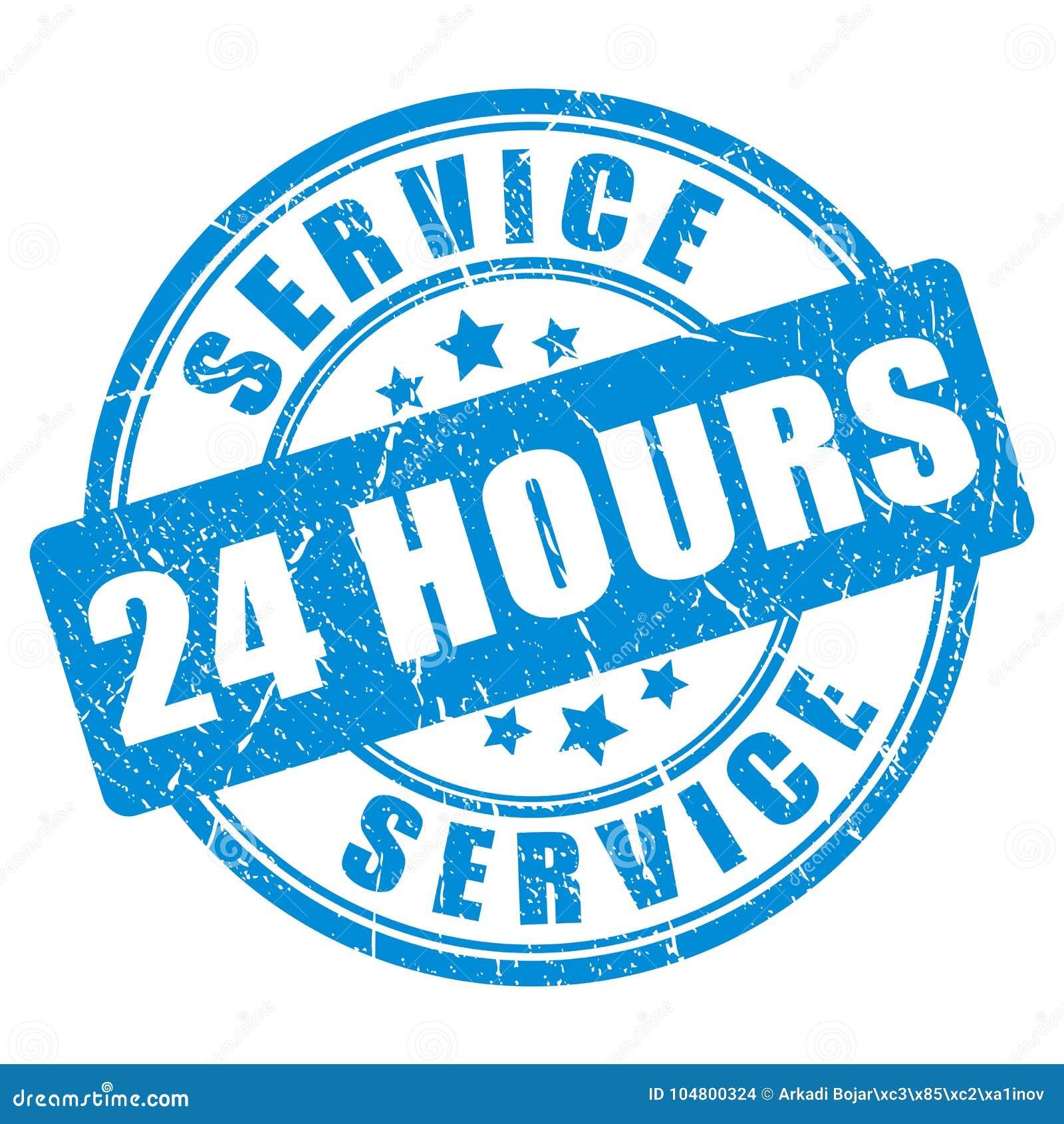 Servicio del sello de la tinta azul 24 horas