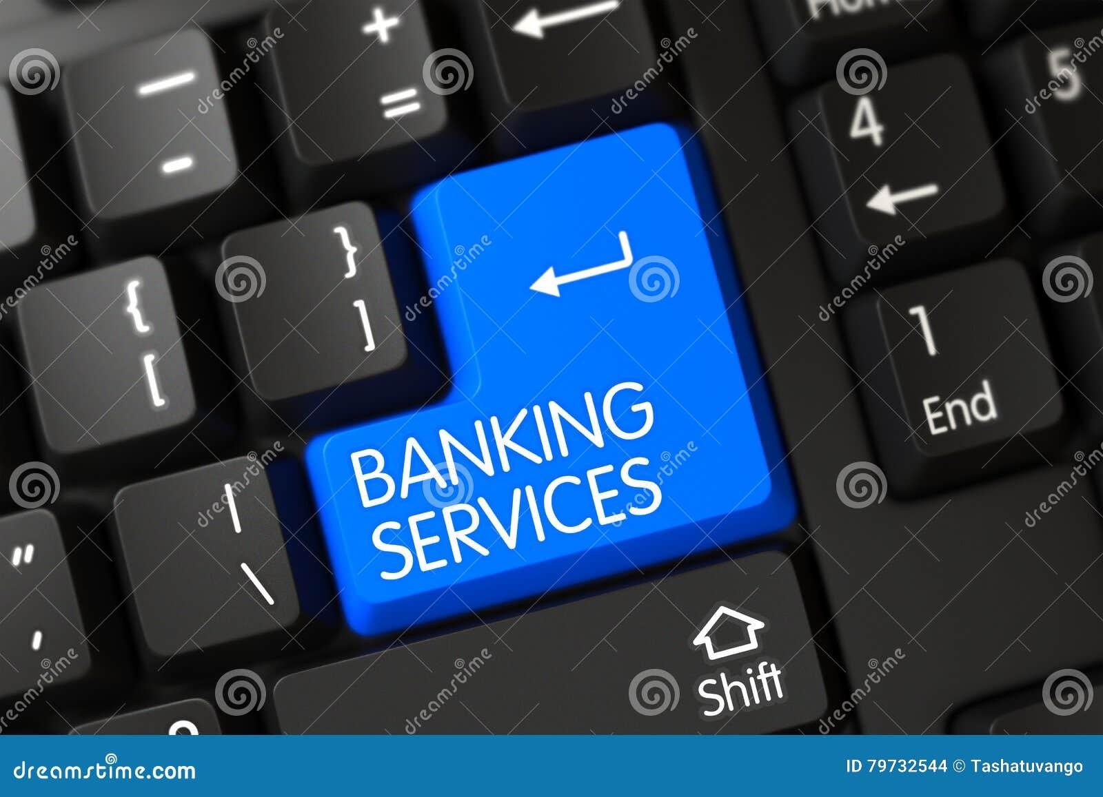 Servicios bancarios - llave modernizada 3d