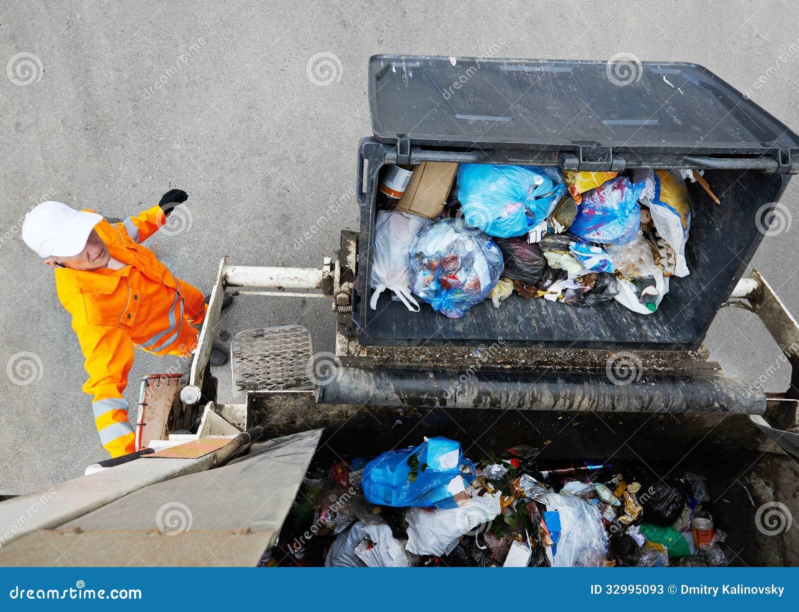 Servicios de reciclaje urbanos de la basura