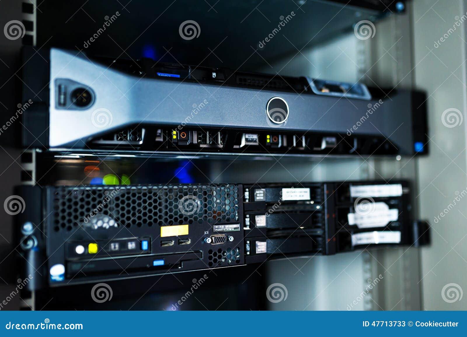 Servidores de red en sitio de los datos
