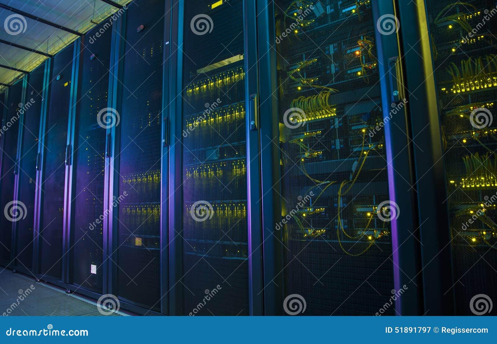 Servidores de red en un centro de datos