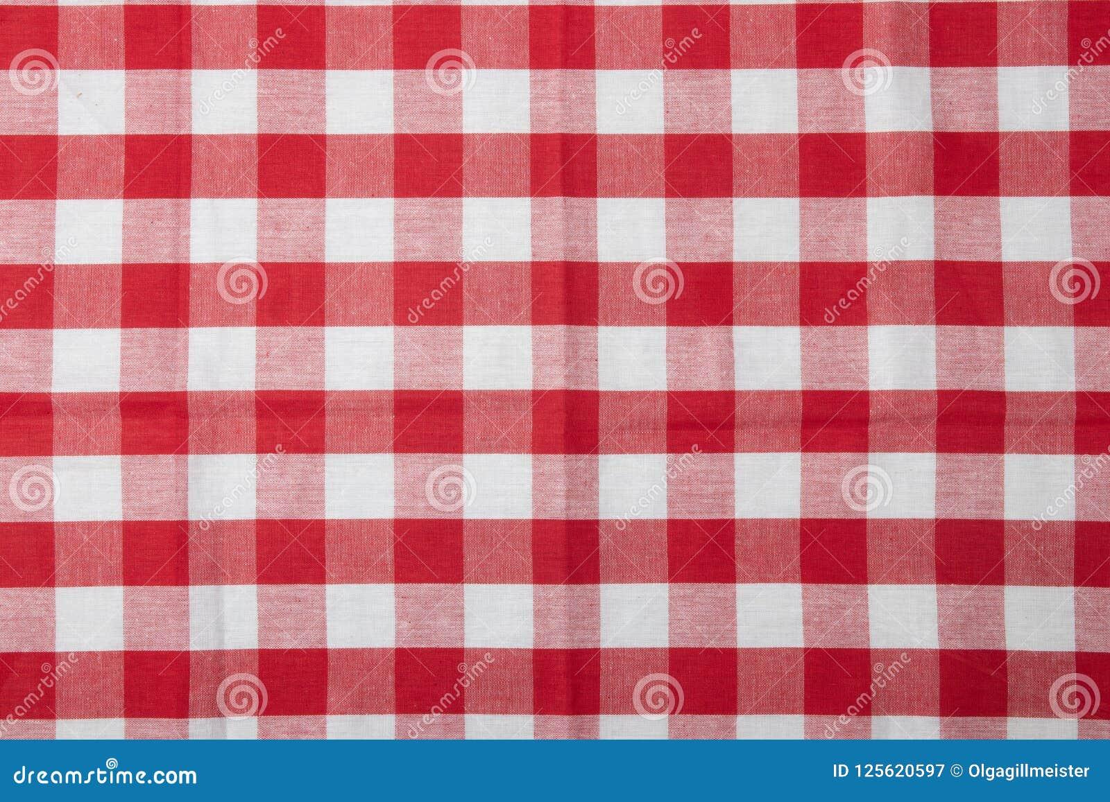 Serviette à Carreaux Rouge Et Blanche Accessoires De Cuisine ...
