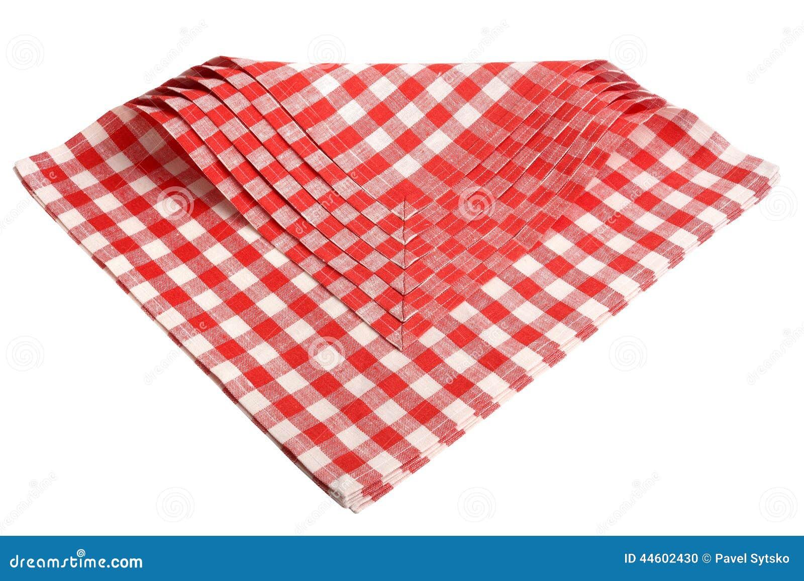 Serviette carreaux rouge et blanc les ustensiles de cuisine - Serviette de table carreaux ...