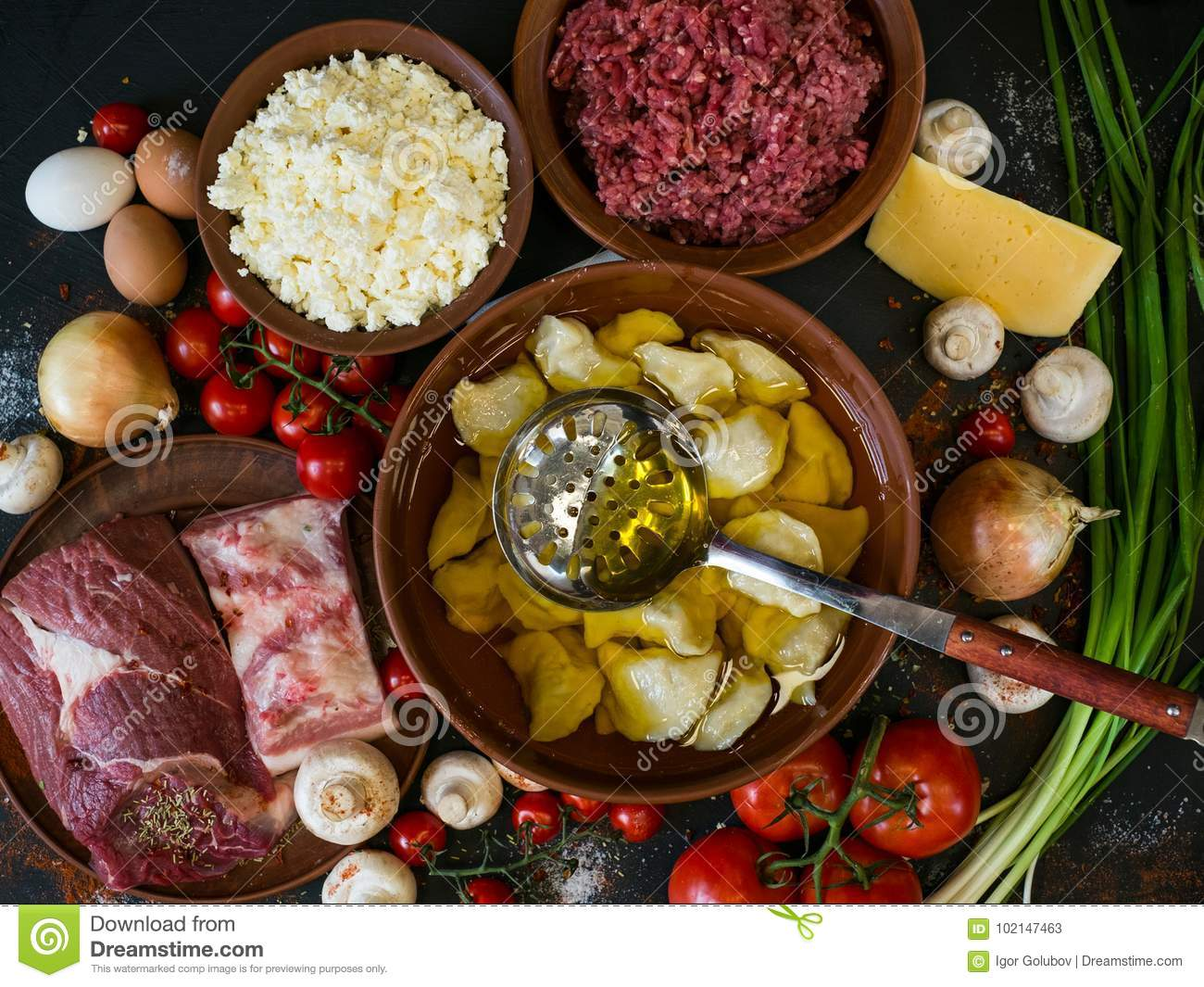 Serving Culinary Traditional Food Background Stock Image Image Of Homemade Onion 102147463