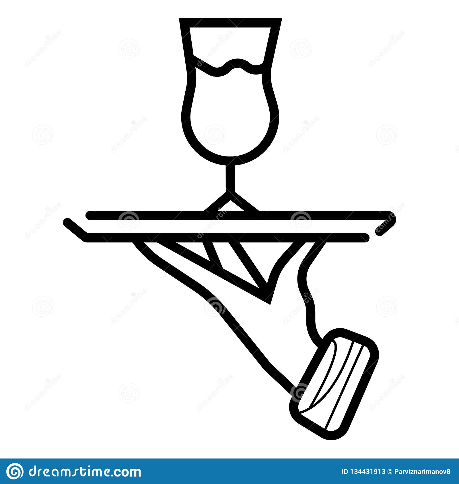 Serving drink icon