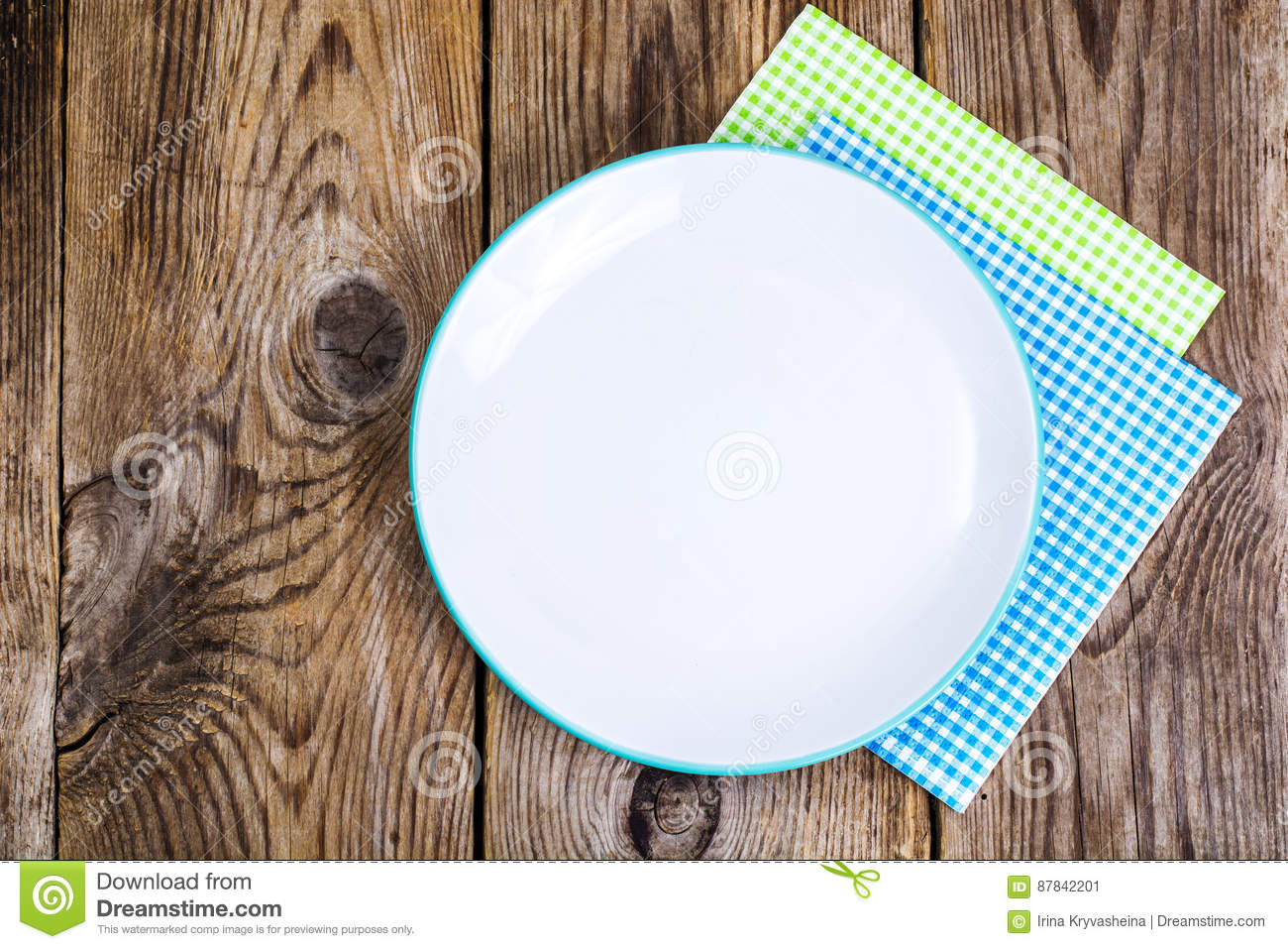 Serving Paper Napkins On Wooden Background Stock Photo