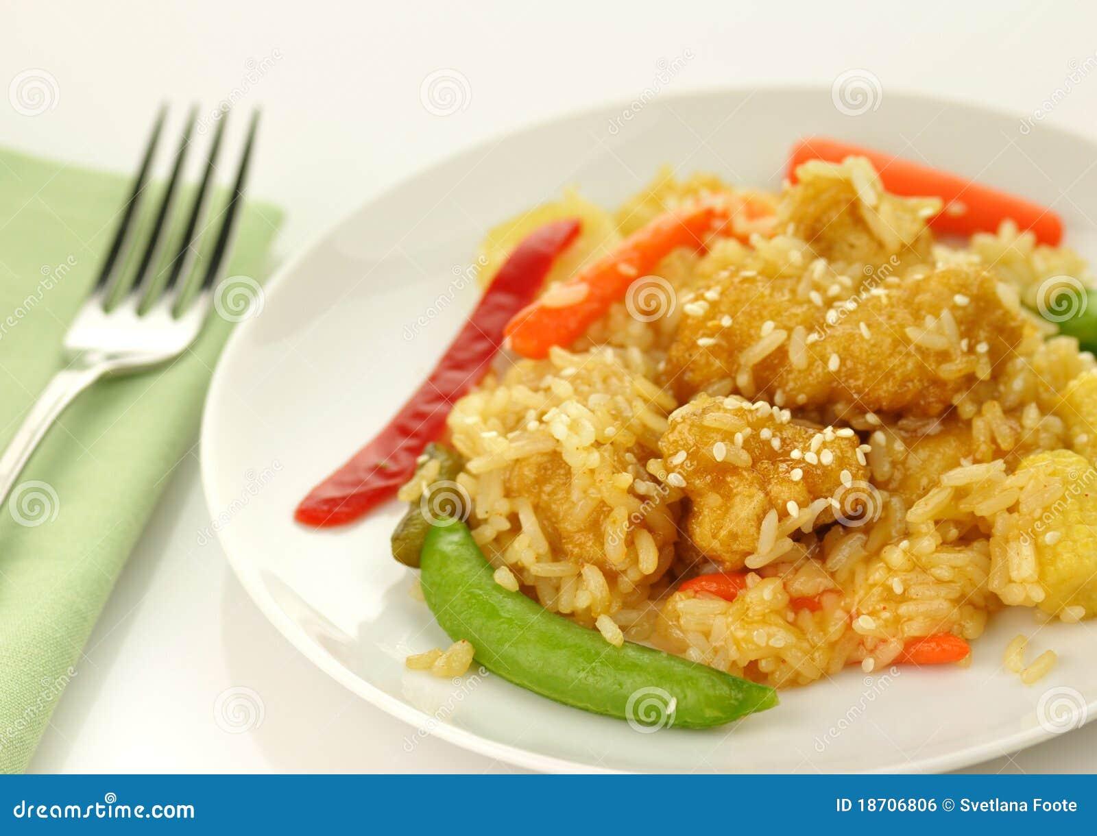 Sesame Orange Chicken Royalty Free Stock Image - Image: 18706806