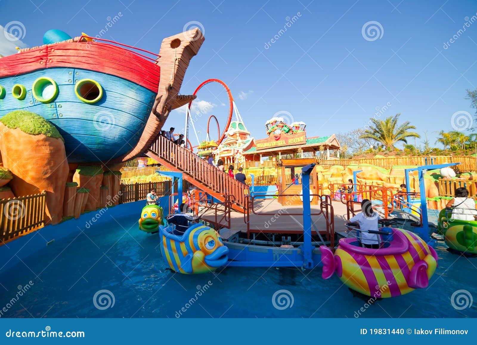 Sesame Street Area At Port Aventura Theme Park Editorial Image - Image ...