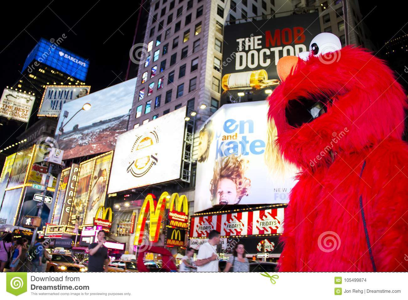 times square new york city new york united states circa 2012 sesame