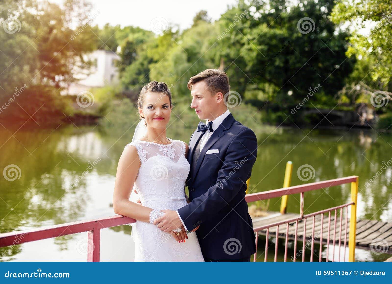Sessão do casamento no parque