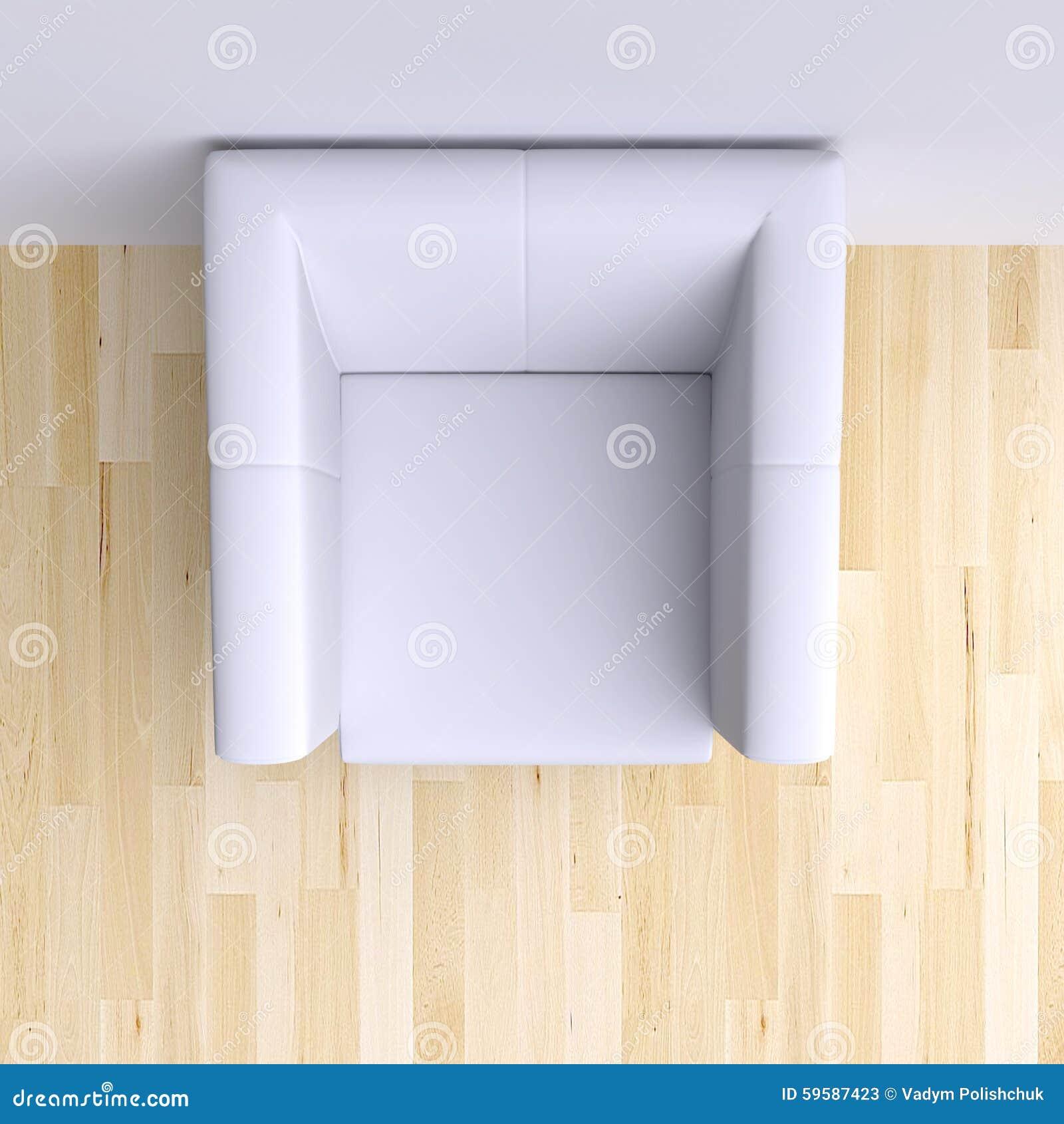 Sessel In Der Ecke Des Raumes Stock Abbildung Illustration Von