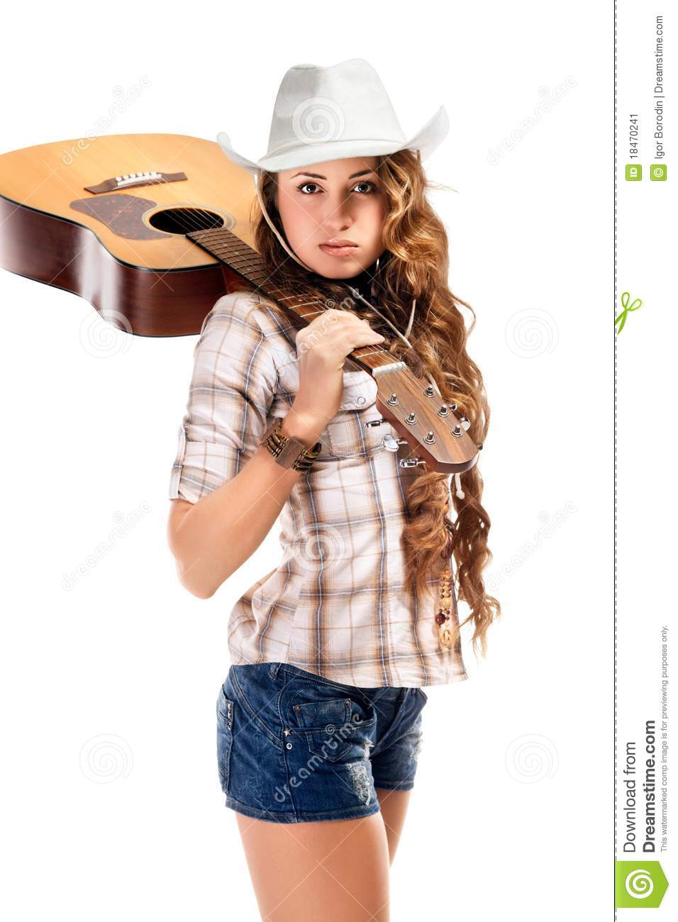 Sesy Cowgirl In Cowboy Hat With Acoustic Guitar Stock  : sesy cowgirl cowboy hat acoustic guitar 18470241 from dreamstime.com size 956 x 1300 jpeg 98kB
