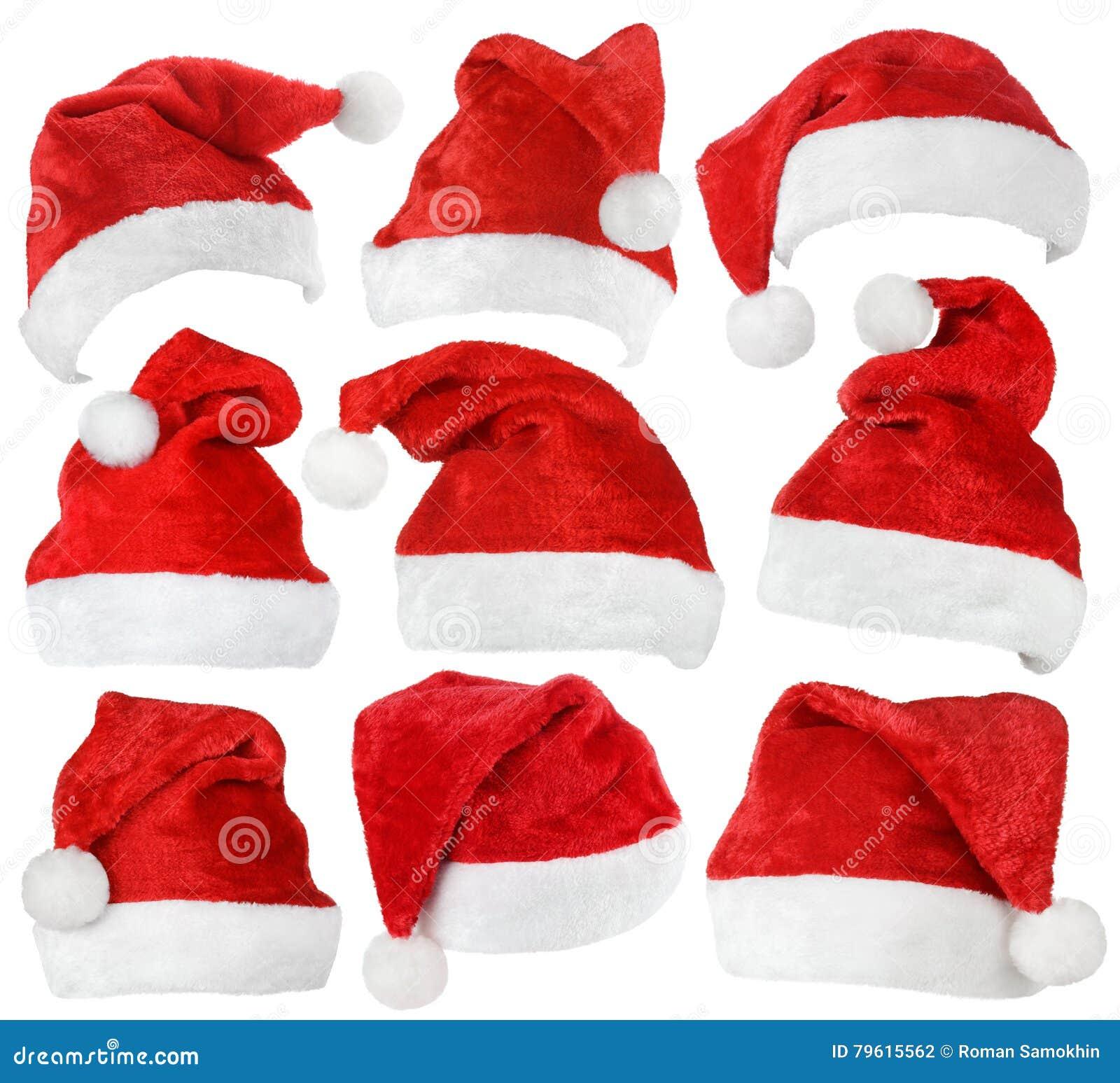 Set Święty Mikołaj czerwieni kapelusze