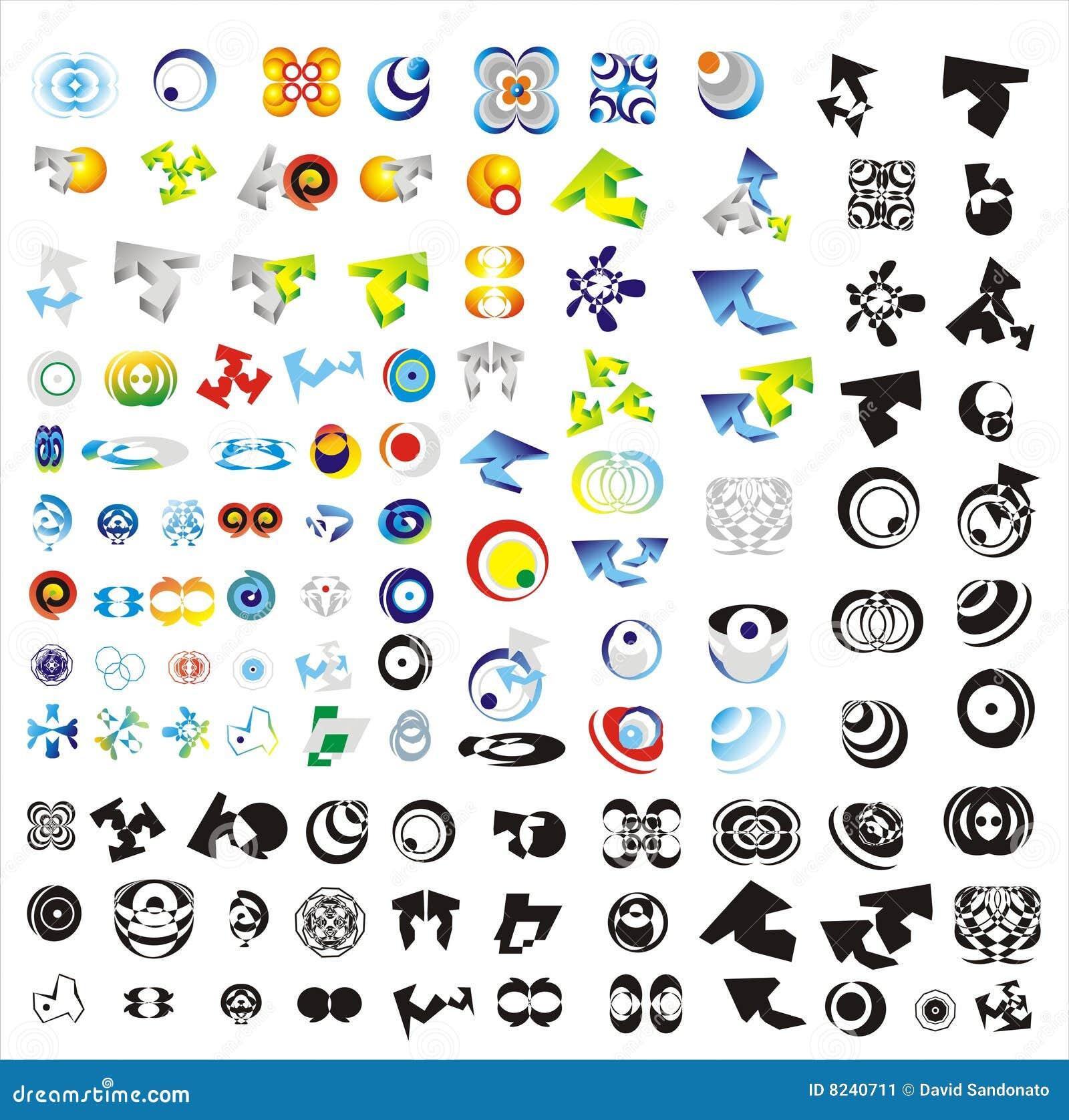 Set Of 110 More Logos Stock Image - Image: 8240711