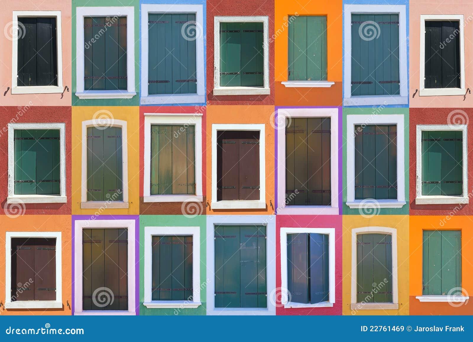 set of 21 old color windows stock image image 22761469. Black Bedroom Furniture Sets. Home Design Ideas