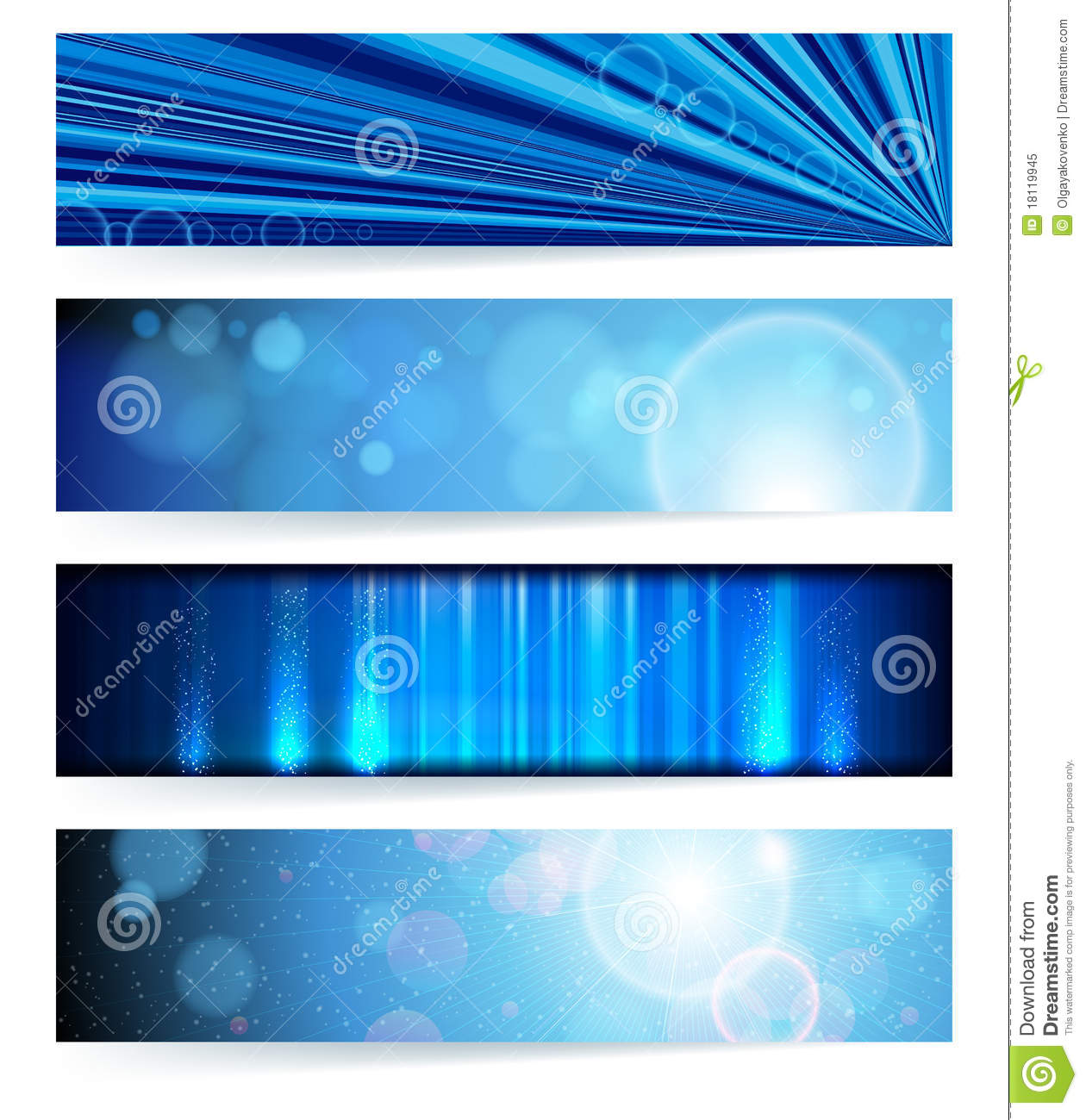 Set Of Abstract Banners. Blue Design. Royalty Free Stock Photo ...