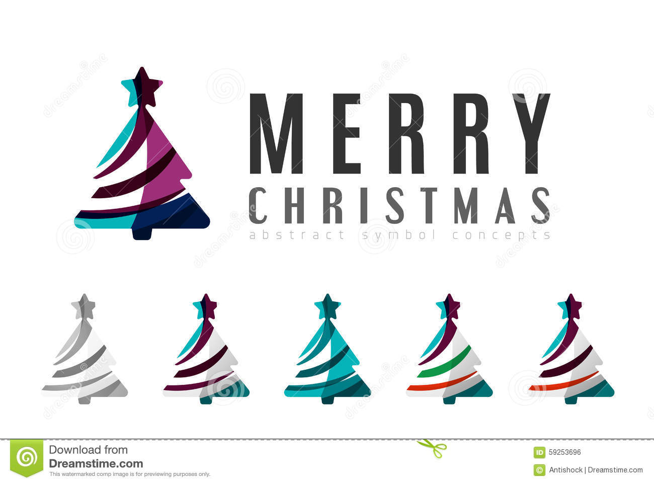 set of abstract christmas tree icons business logo concepts clean modern glossy design created with transparent abstract lines - When Was Christmas Created