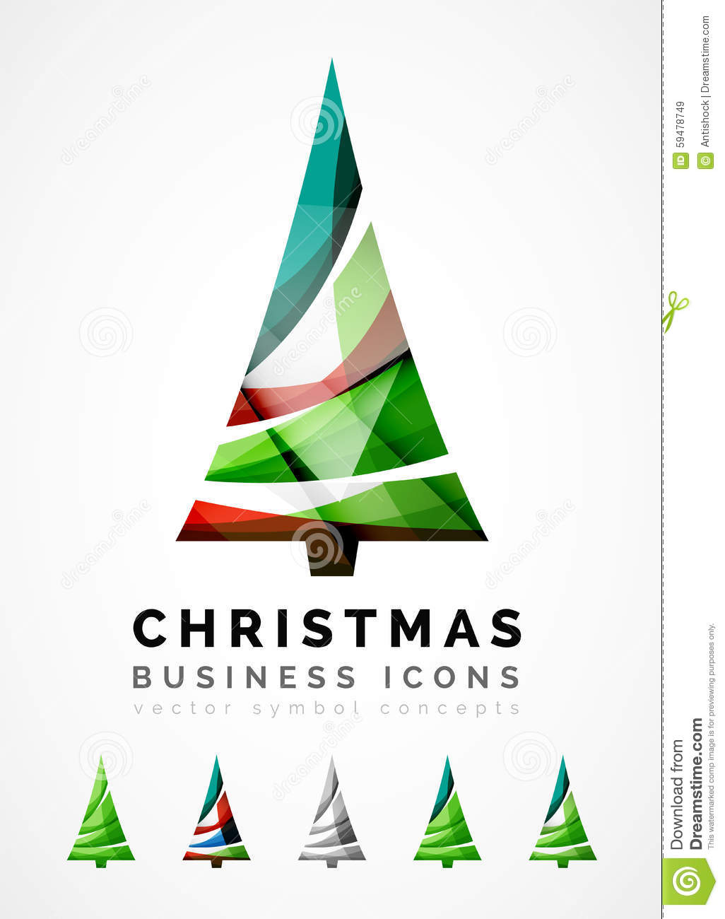 set of abstract christmas tree icons business stock vector rh dreamstime com christmas tree looks christmas tree looks