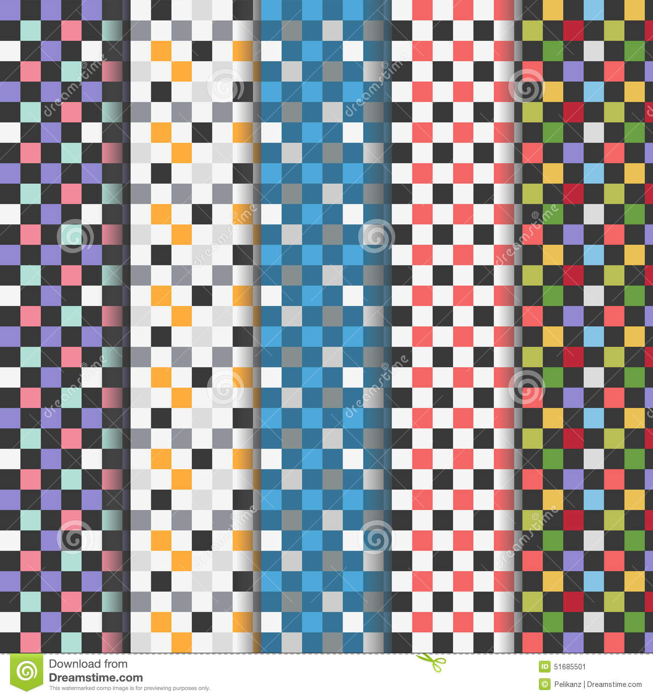 Set of checkered patterns vector illustration for Imagenes de cuadros abstractos famosos
