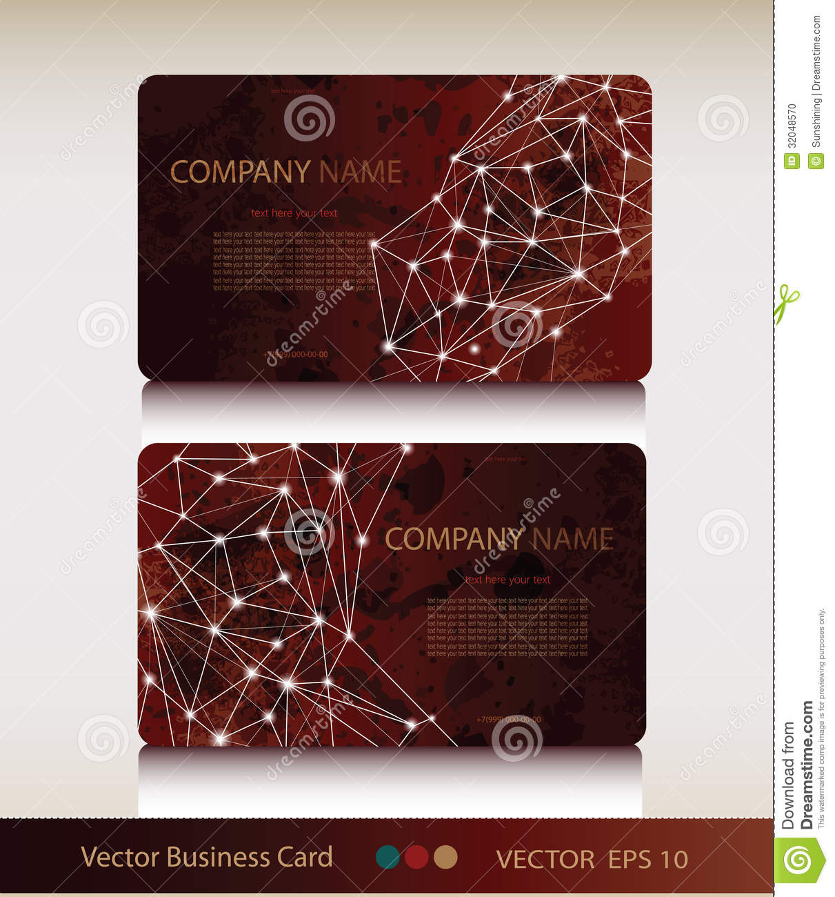 Set of abstract geometric business card stock vector illustration royalty free stock photo colourmoves