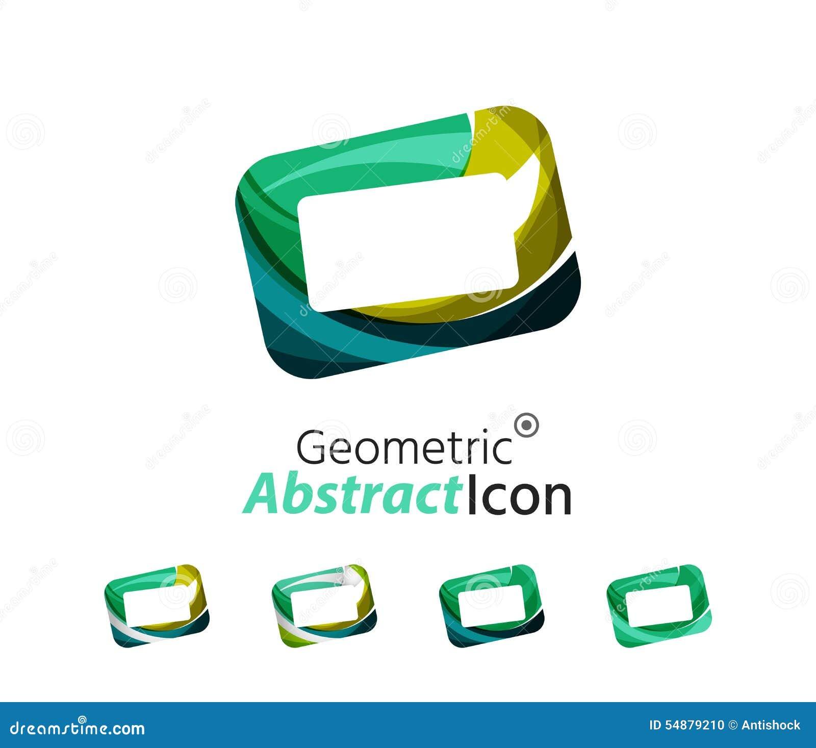Set Of Abstract Geometric Company Logo Frame Stock Vector ...