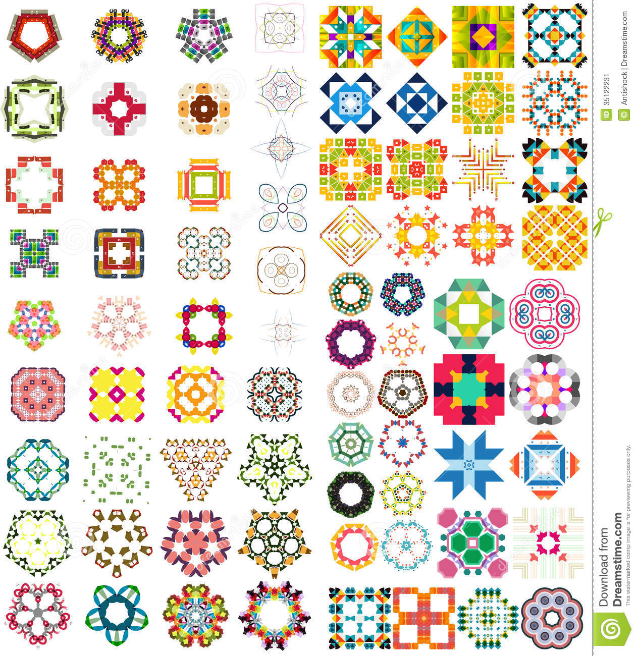 Set Of Abstract Geometric Icons Shapes Stock Image