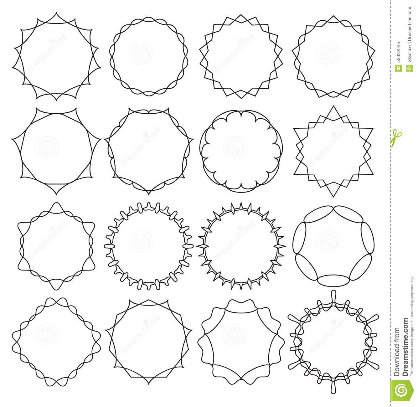 Vector Set Outline Emblems And Badges - Abstract Hipster Logo ...