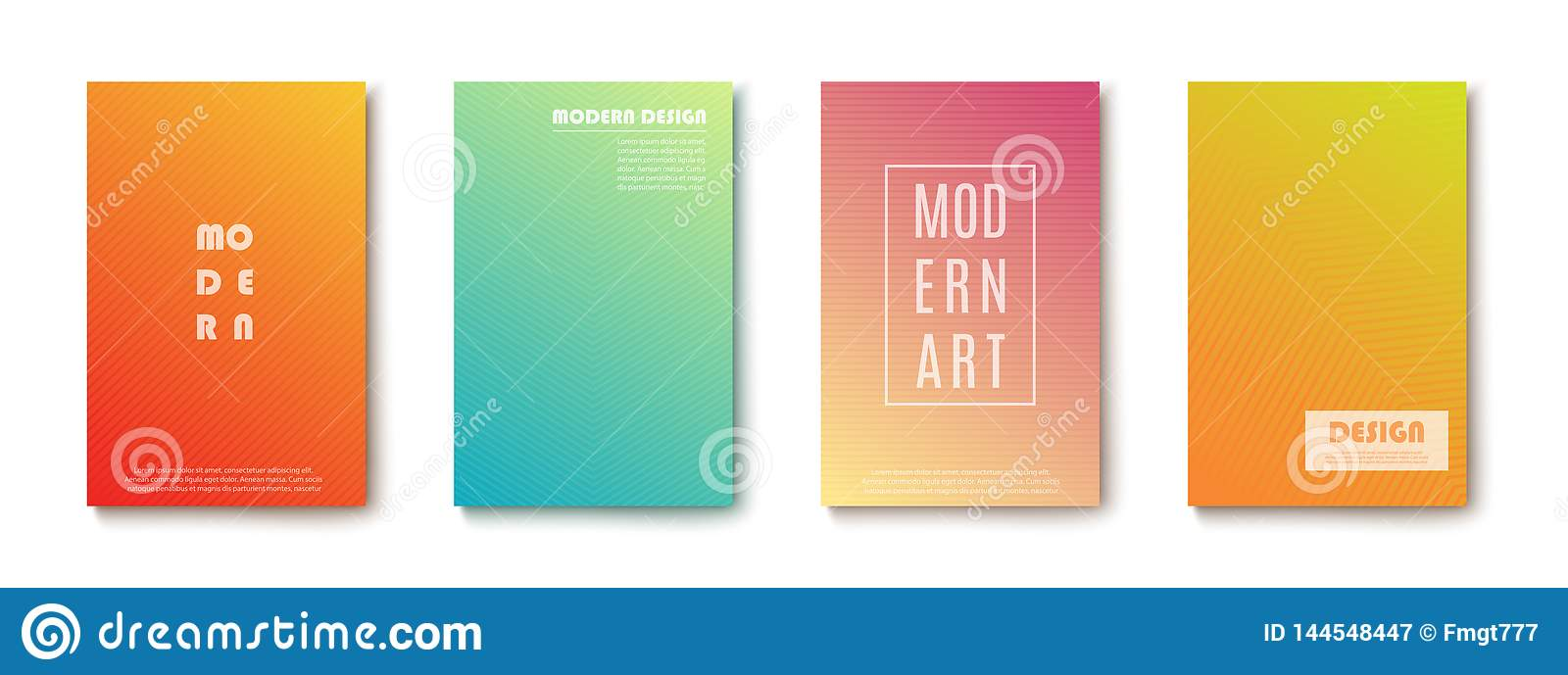 Set of abstract Modern design Banners. On transparent background. Vector