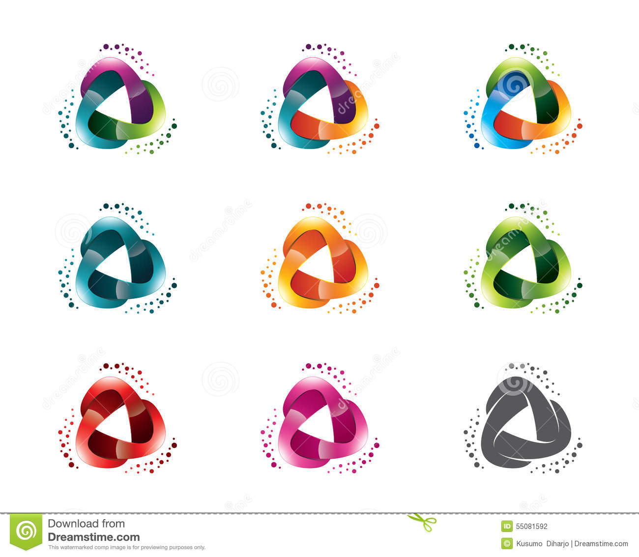 Set of abstract triangle media logo template circle triangle set of abstract triangle media logo template circle triangle symbol vector buycottarizona