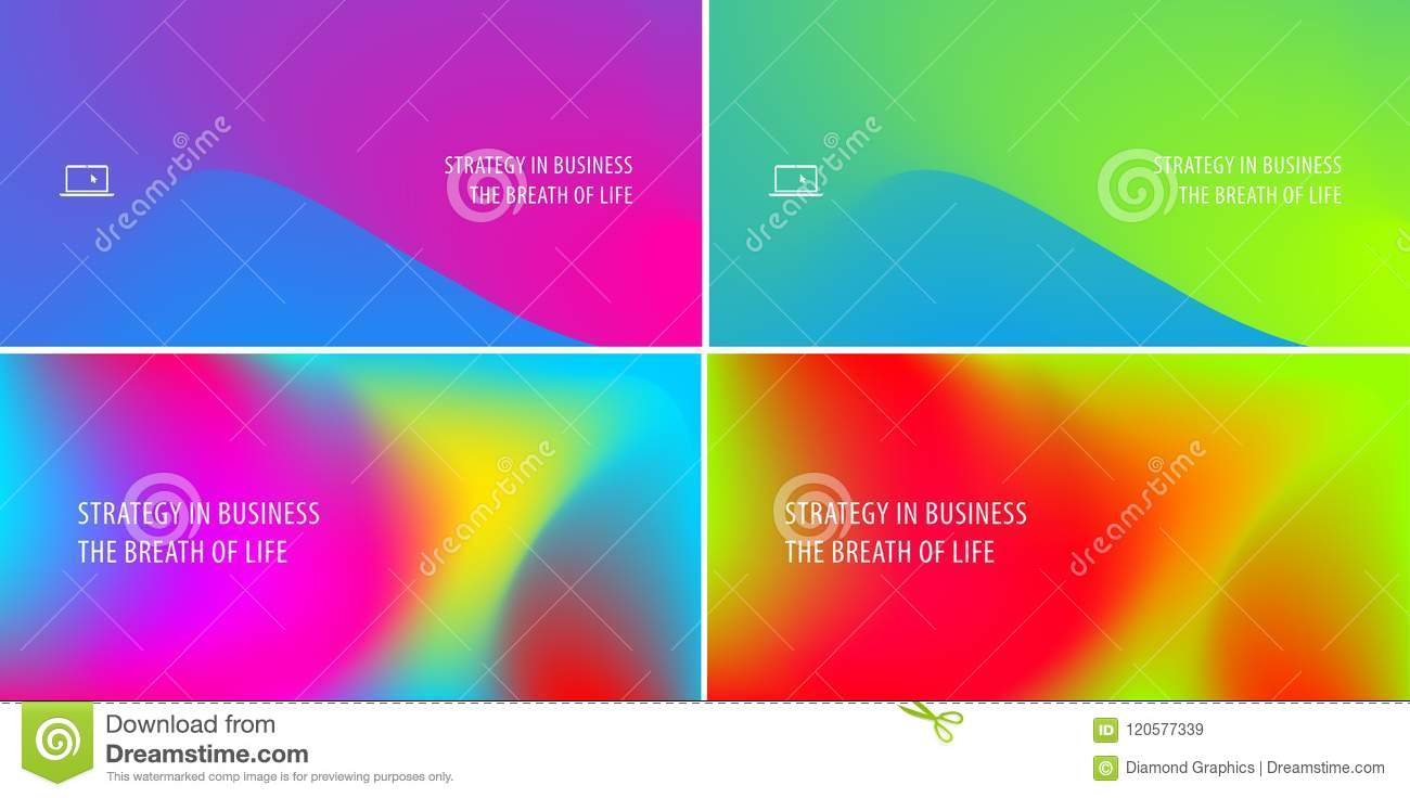 Abstract design of colourful flow vector elements for modern background with fluid gradient shapes for business branding