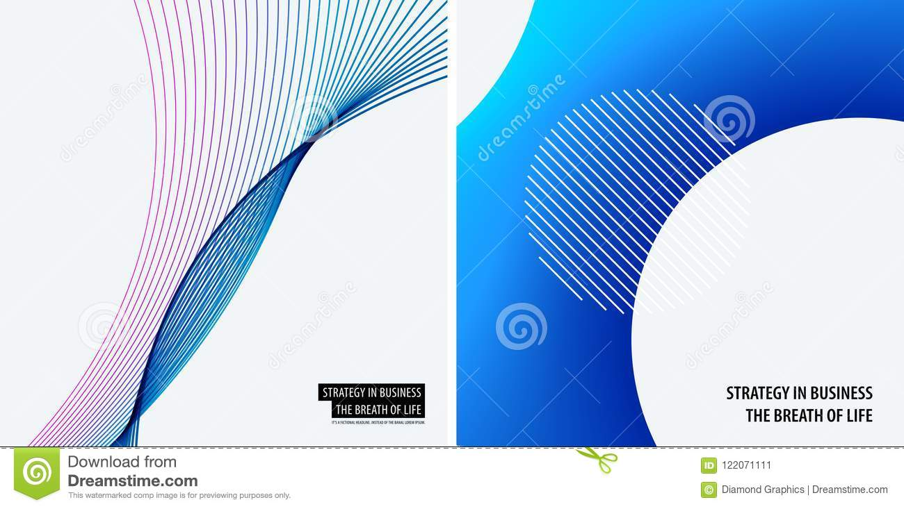 Download Set Of Modern Design Abstract Templates. Creative Business Background With Colourful Waves Lines For Promotion, Banner Stock Vector - Illustration of background, offer: 122071111