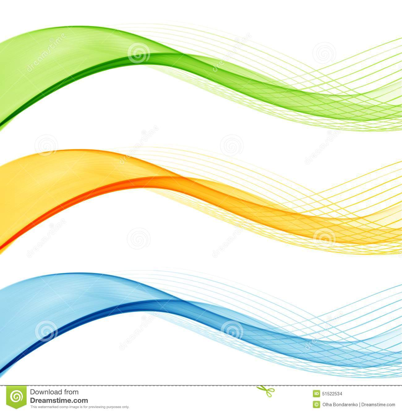 set of abstract waves line  template design stock vector