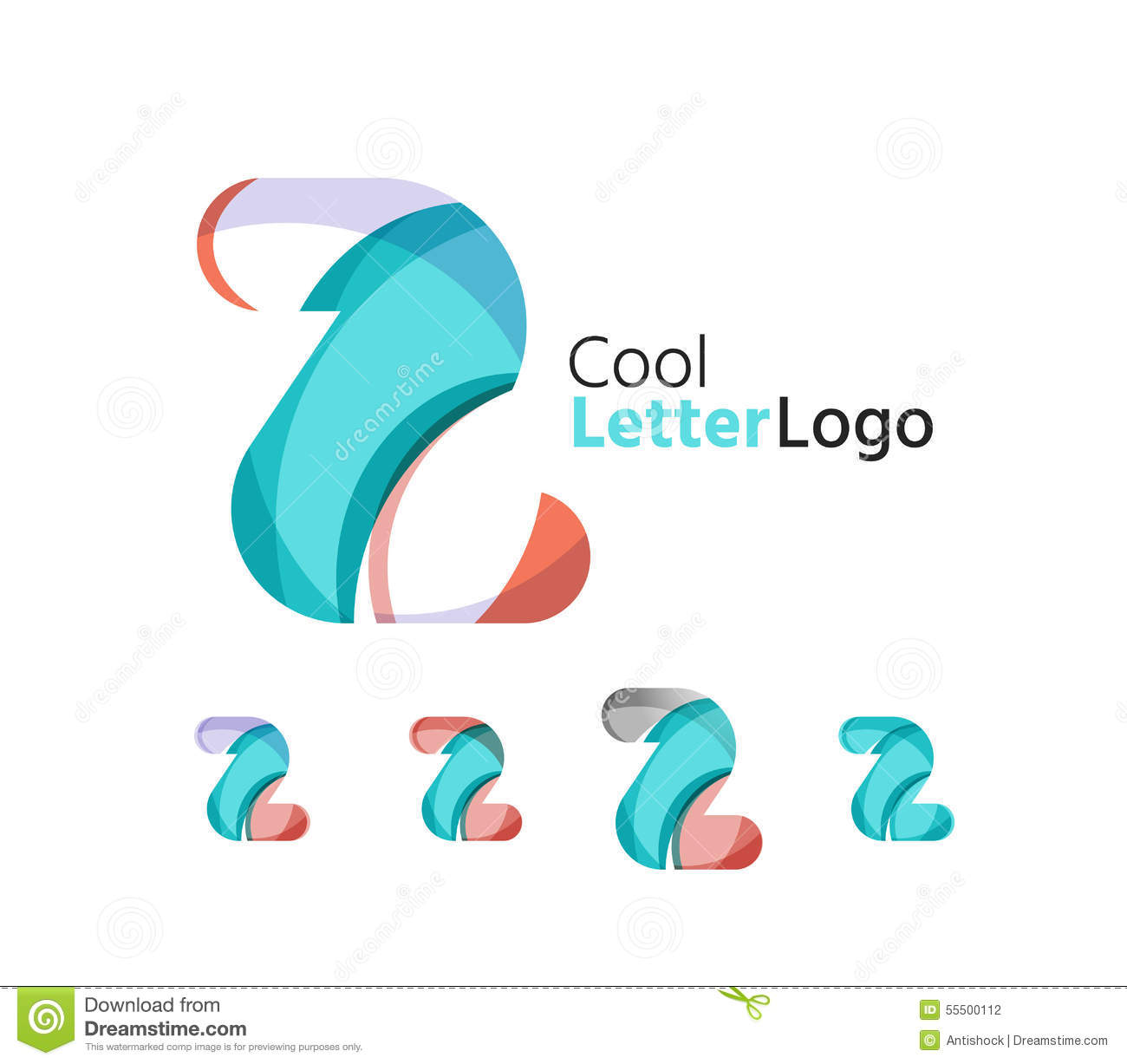Set Of Abstract Z Letter Company Logos. Business Stock ...